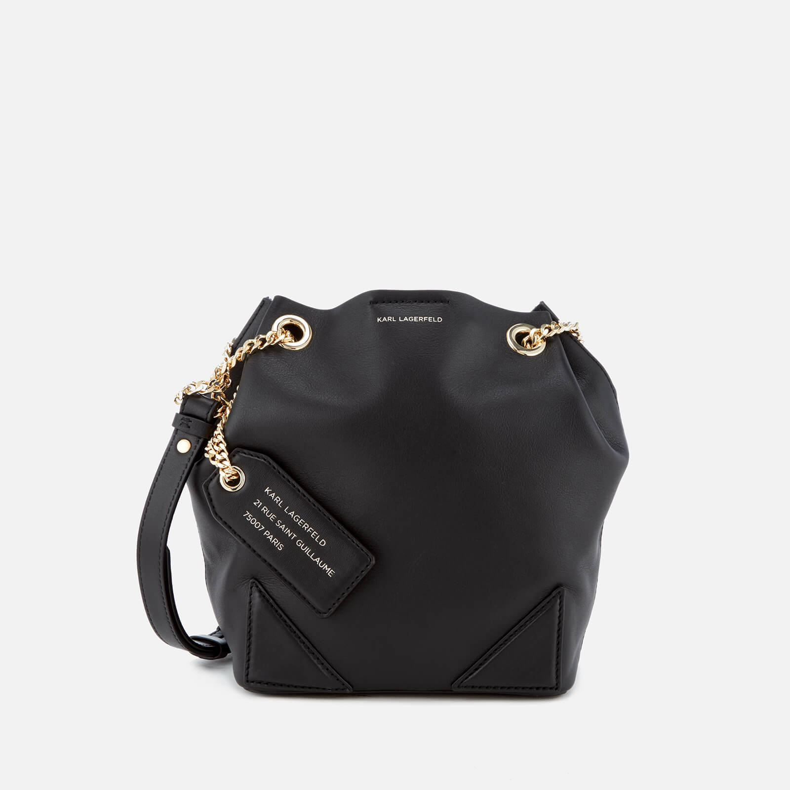 a9c0365128bd Karl Lagerfeld Women s K Slouchy Small Drawstring Bag - Black - Free UK  Delivery over £50