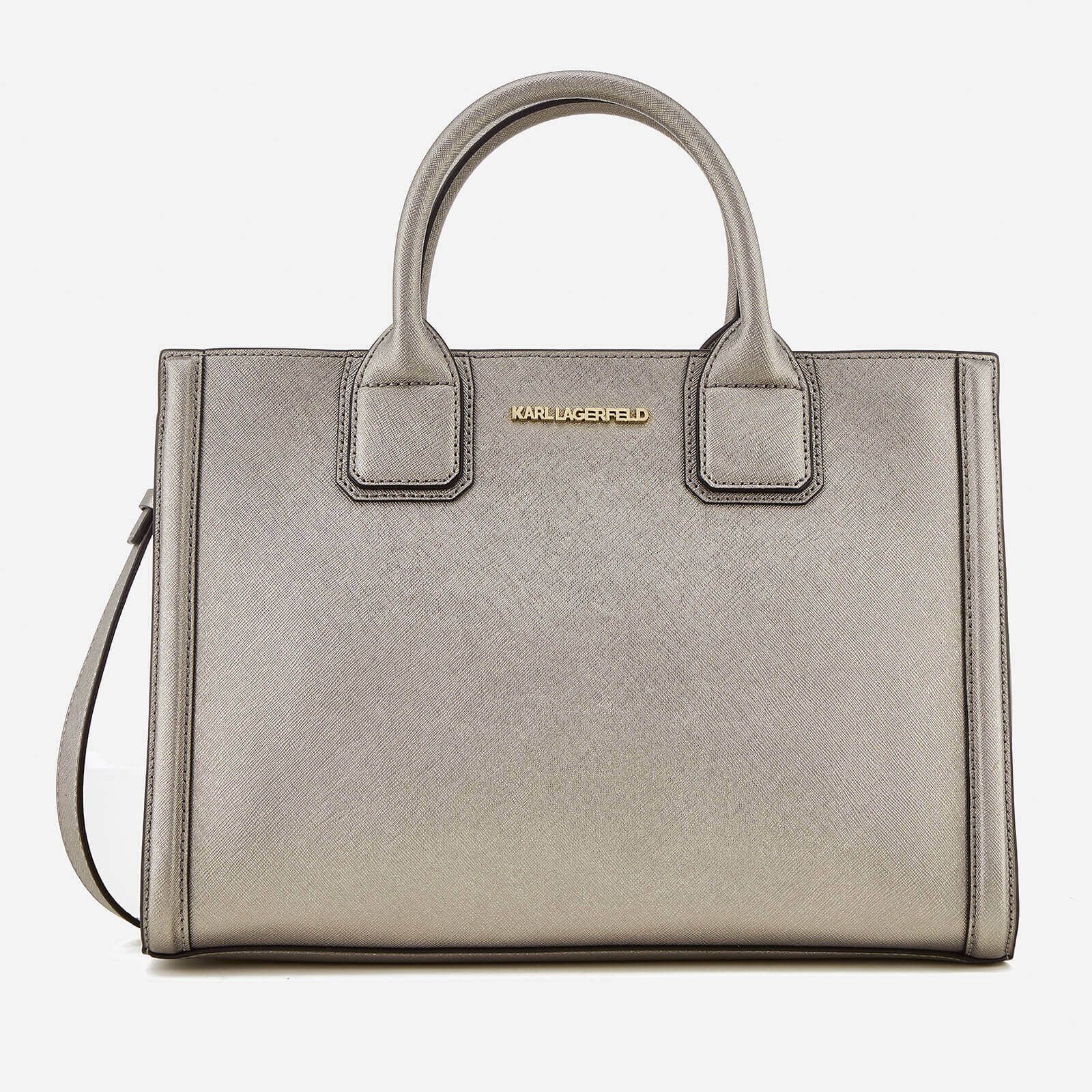 7e6d68ab86c6f Karl Lagerfeld Women s K Klassik Tote Bag - Pink Bronze - Free UK ...