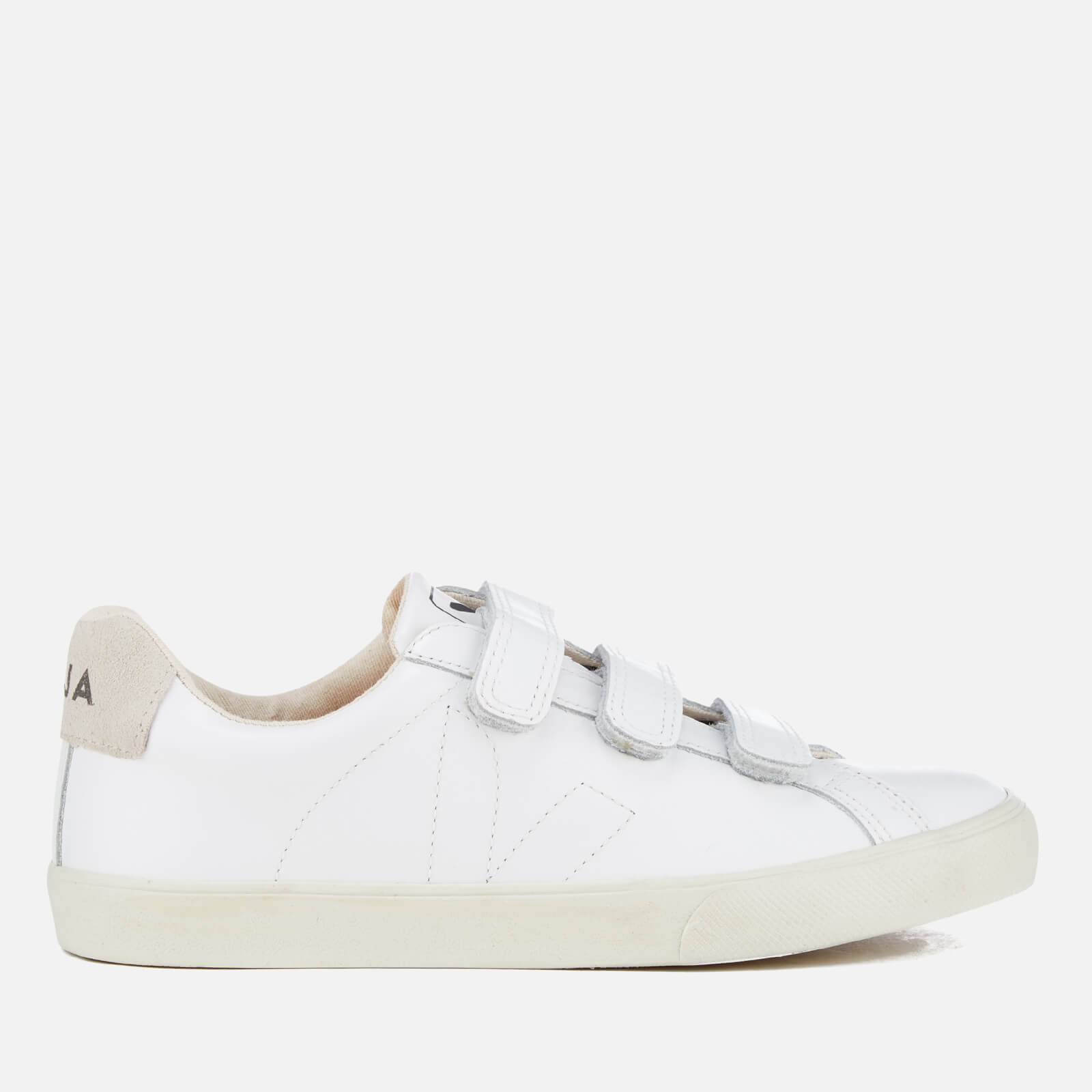 0572b7ffbbb9b1 Veja Women's 3-Lock Leather Trainers - Extra White | FREE UK Delivery |  Allsole