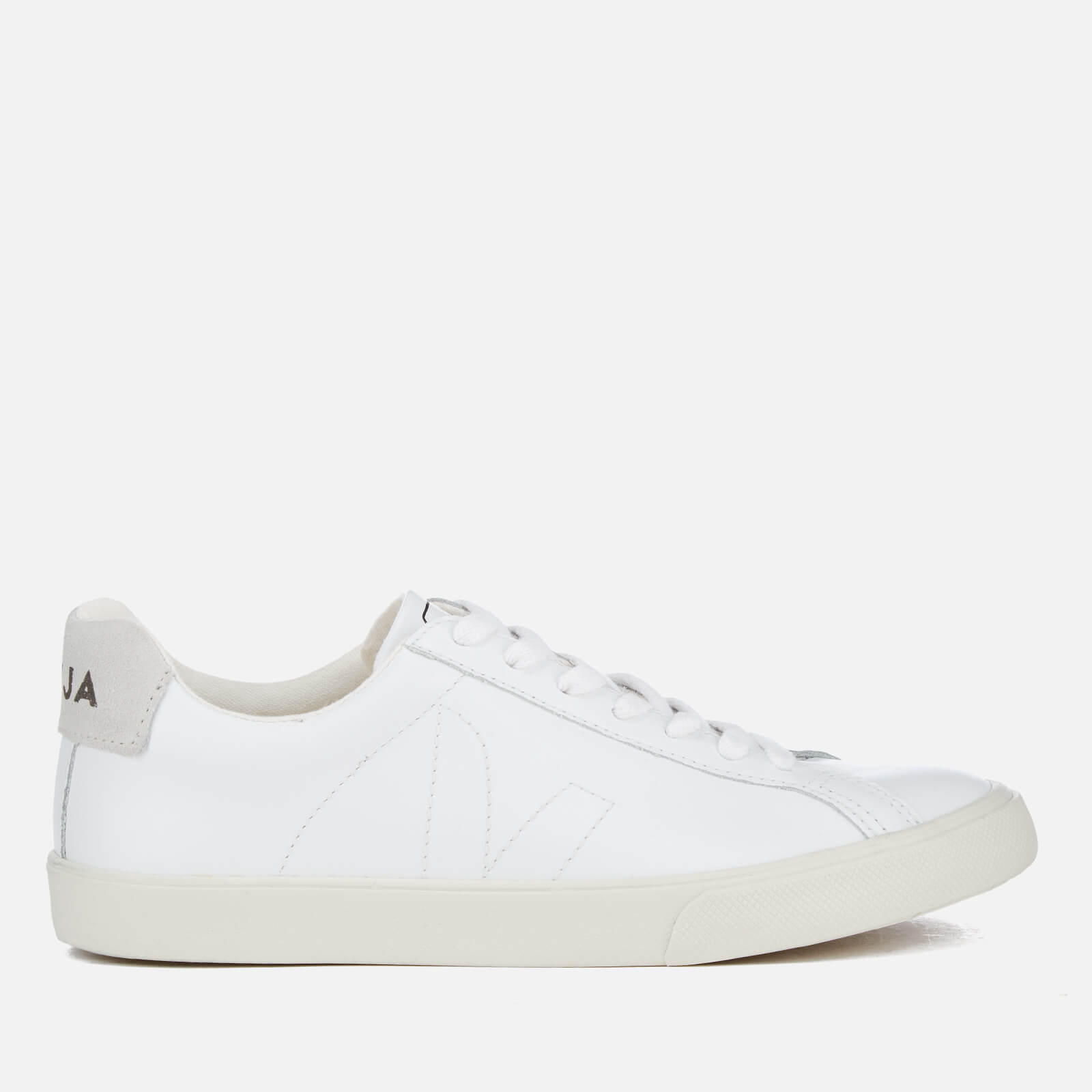 7dbeaeac47b7 Veja Men s Esplar Leather Low Top Trainers - Extra White - Free UK Delivery  over £50