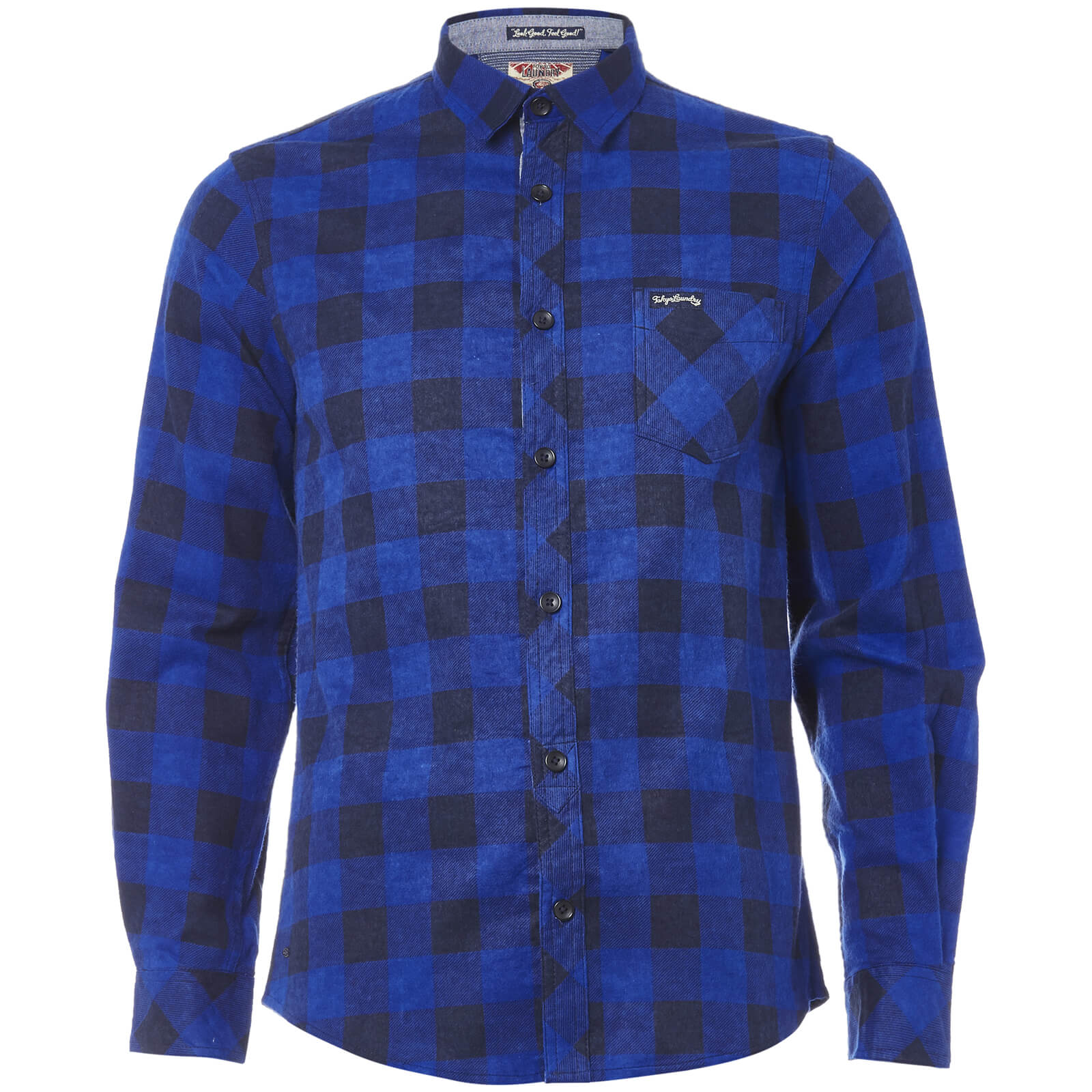 5e8ddadc63343 Chemise en Flanelle Homme Alhambra Tokyo Laundry - Bleu