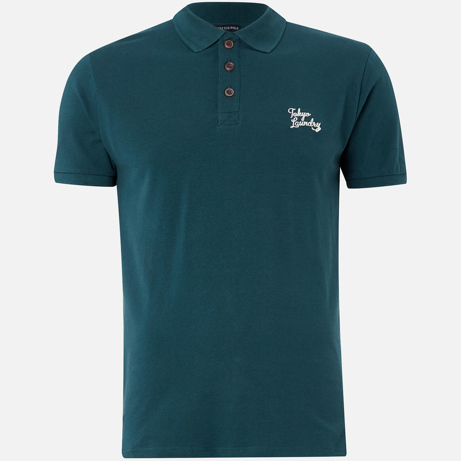Tokyo laundry men 39 s winterfield polo shirt teal for Mens teal polo shirt