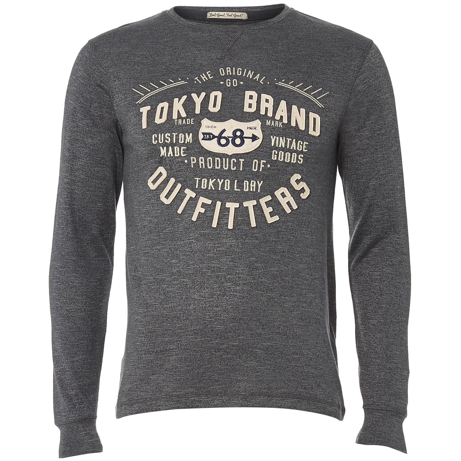T-Shirt Homme Timperley Jersey Tokyo Laundry - Gris Charbon