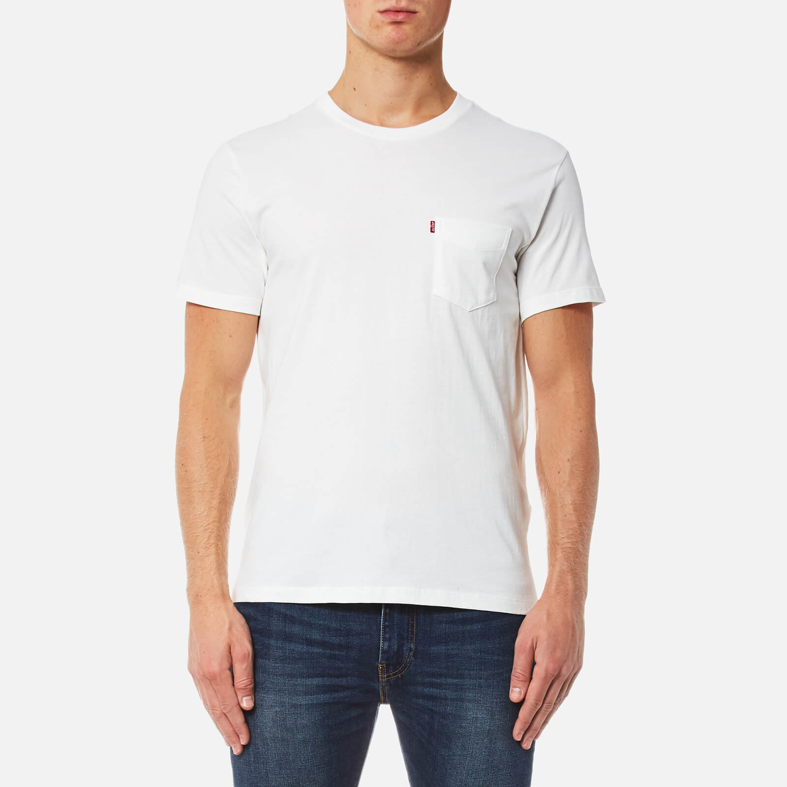 69613d2b ... Levi's Men's Short Sleeve Set-In Sunset Pocket T-Shirt - Whitesmoke