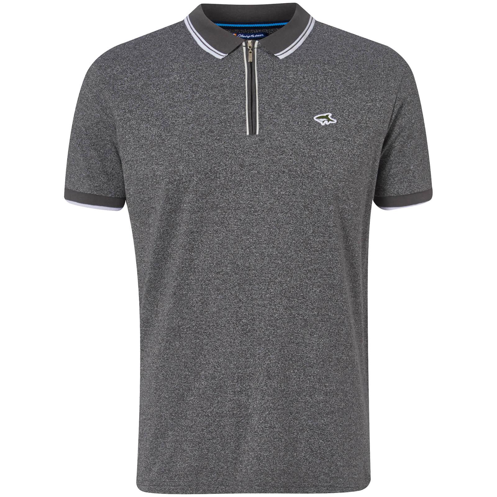 Le Shark Men s Holmdale Zip Polo Shirt - Asphalt Clothing  1a6233970e2c