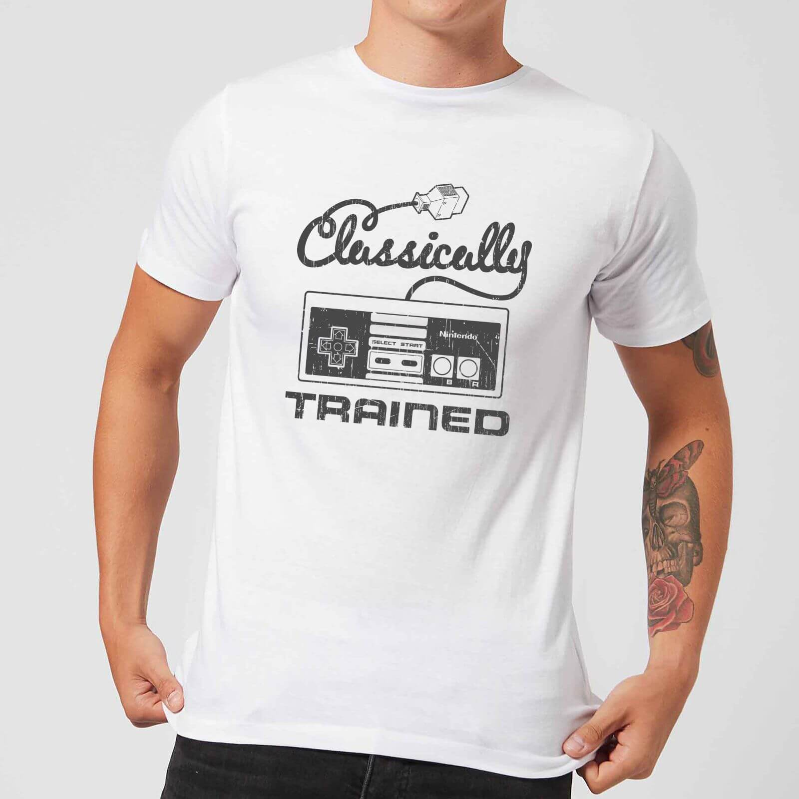 62e021ee Nintendo Retro NES Classically Trained Men's White T-Shirt | IWOOT