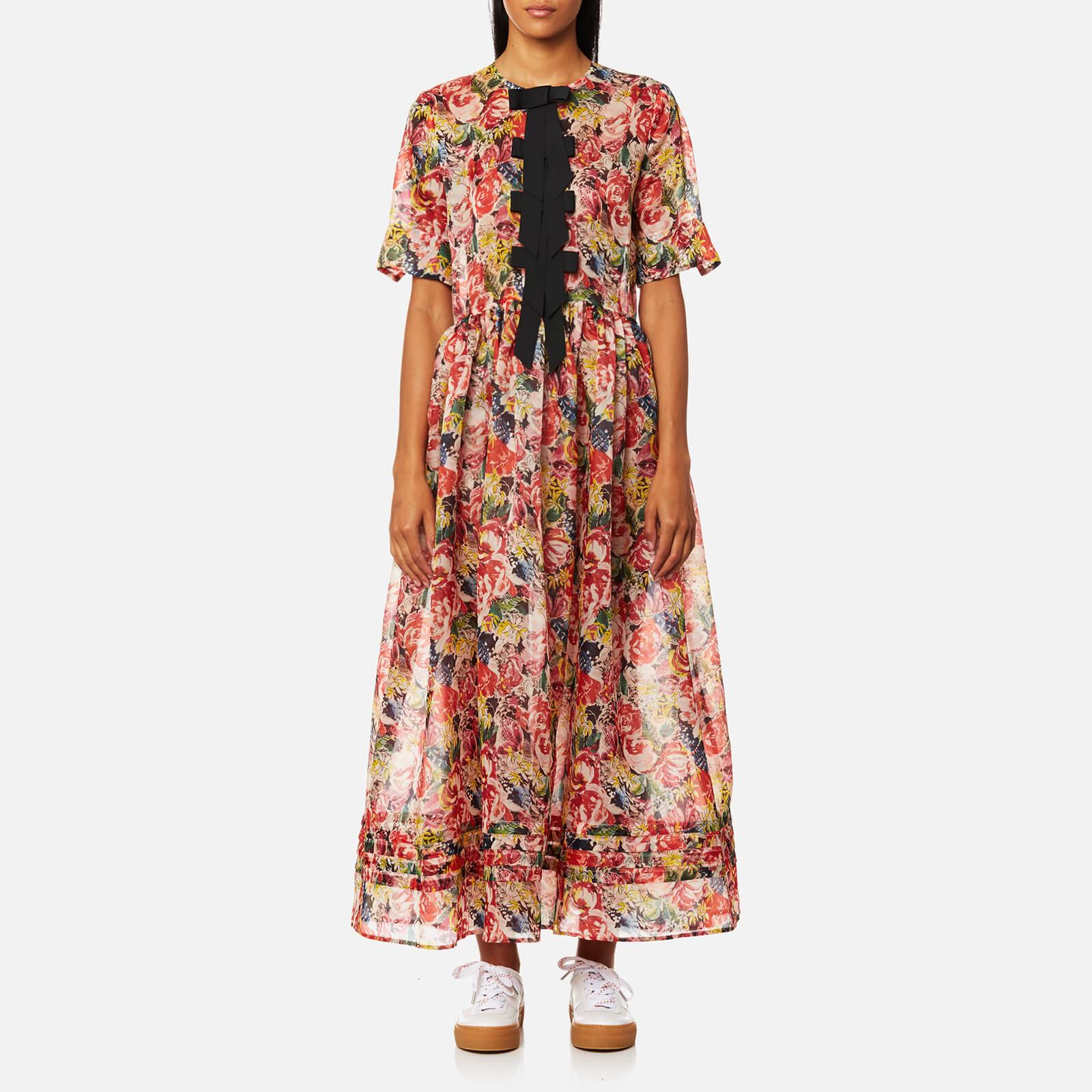 76b169dc Ganni Women's Seneca Silk Dress - Multicolour - Free UK Delivery over £50