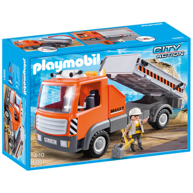Playmobil City Life: Flatbed Workman