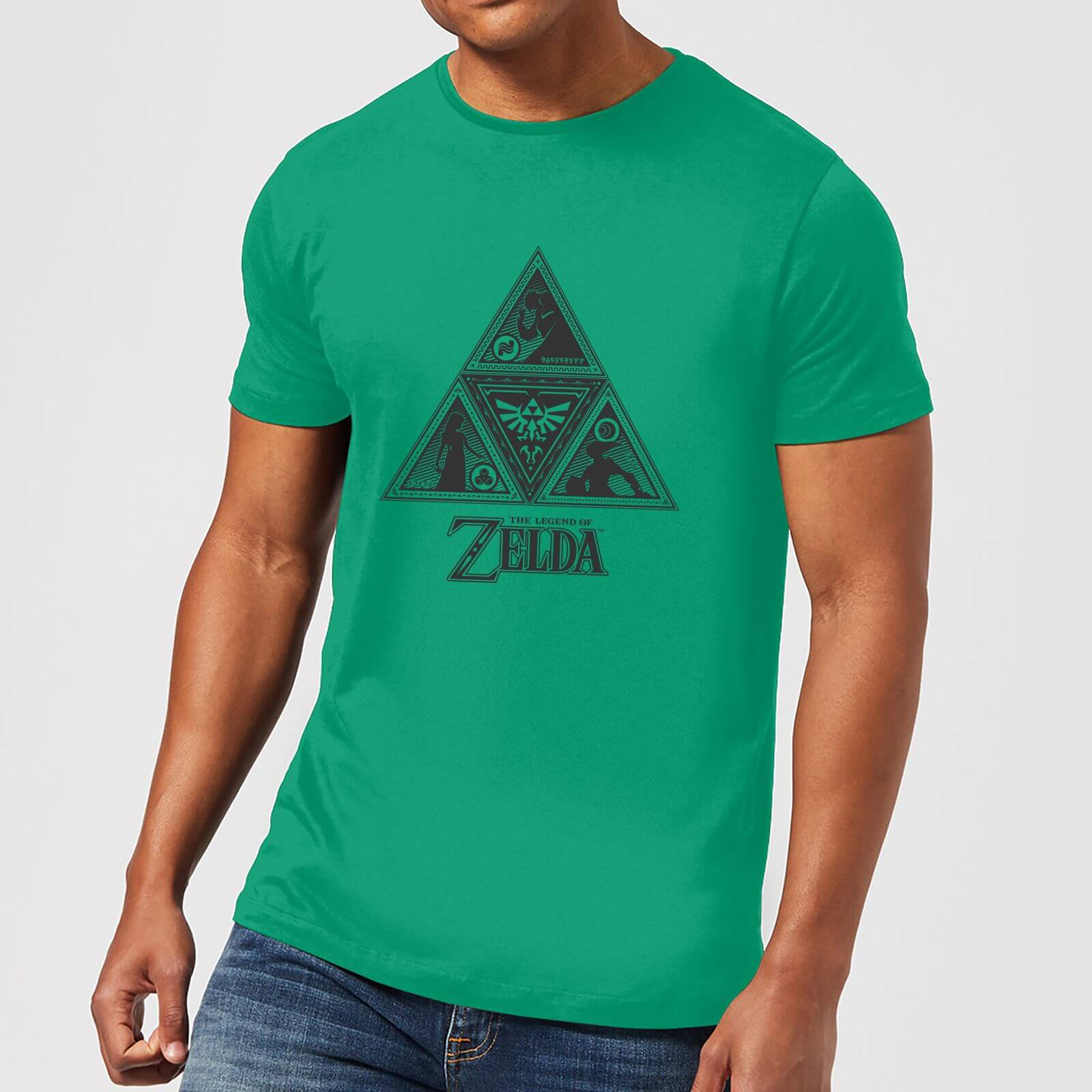 c08657802 Nintendo The Legend Of Zelda Triforce Men's Green T-Shirt Clothing | Zavvi