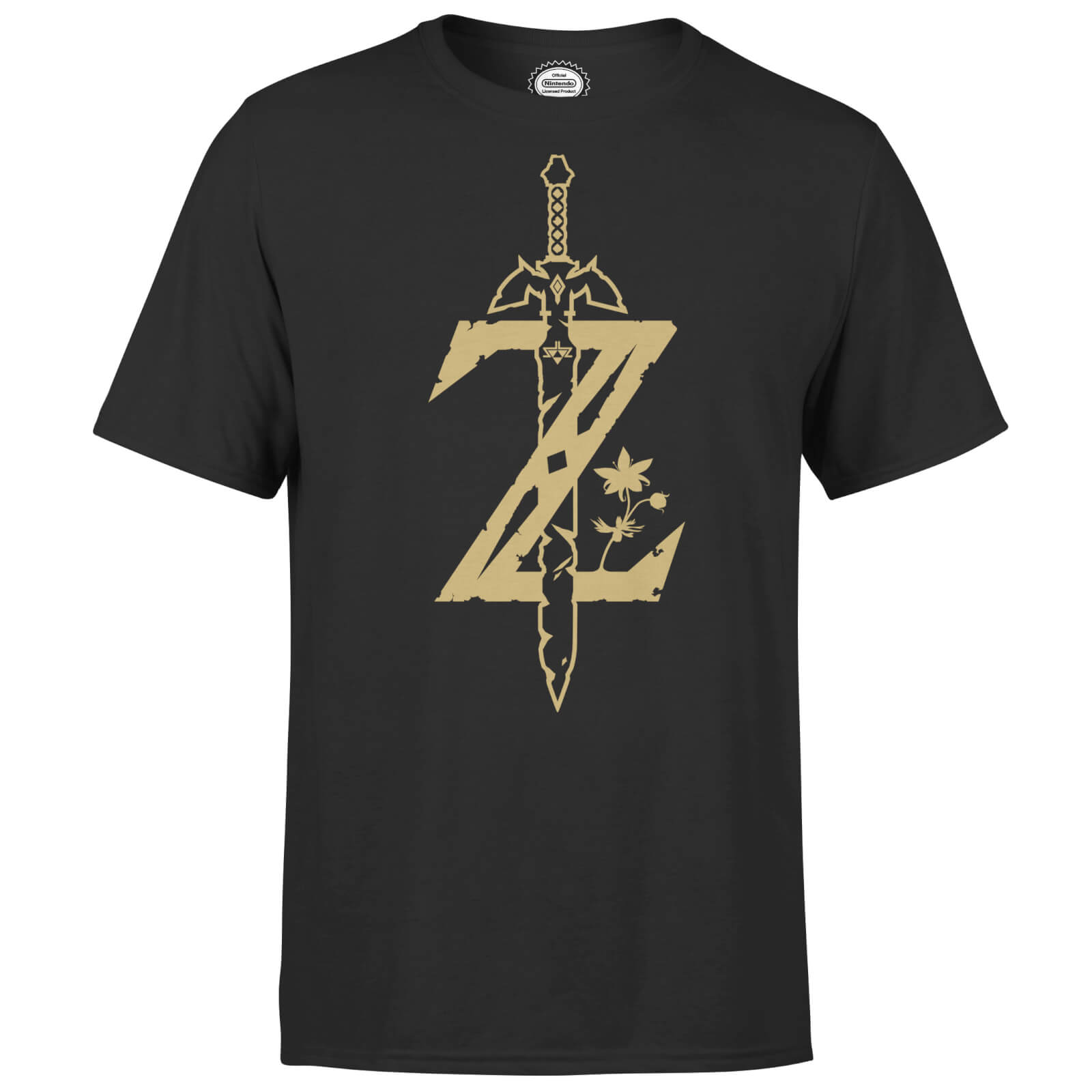 bb3c4fde Nintendo The Legend Of Zelda Master Sword Men's T-Shirt - Black | IWOOT