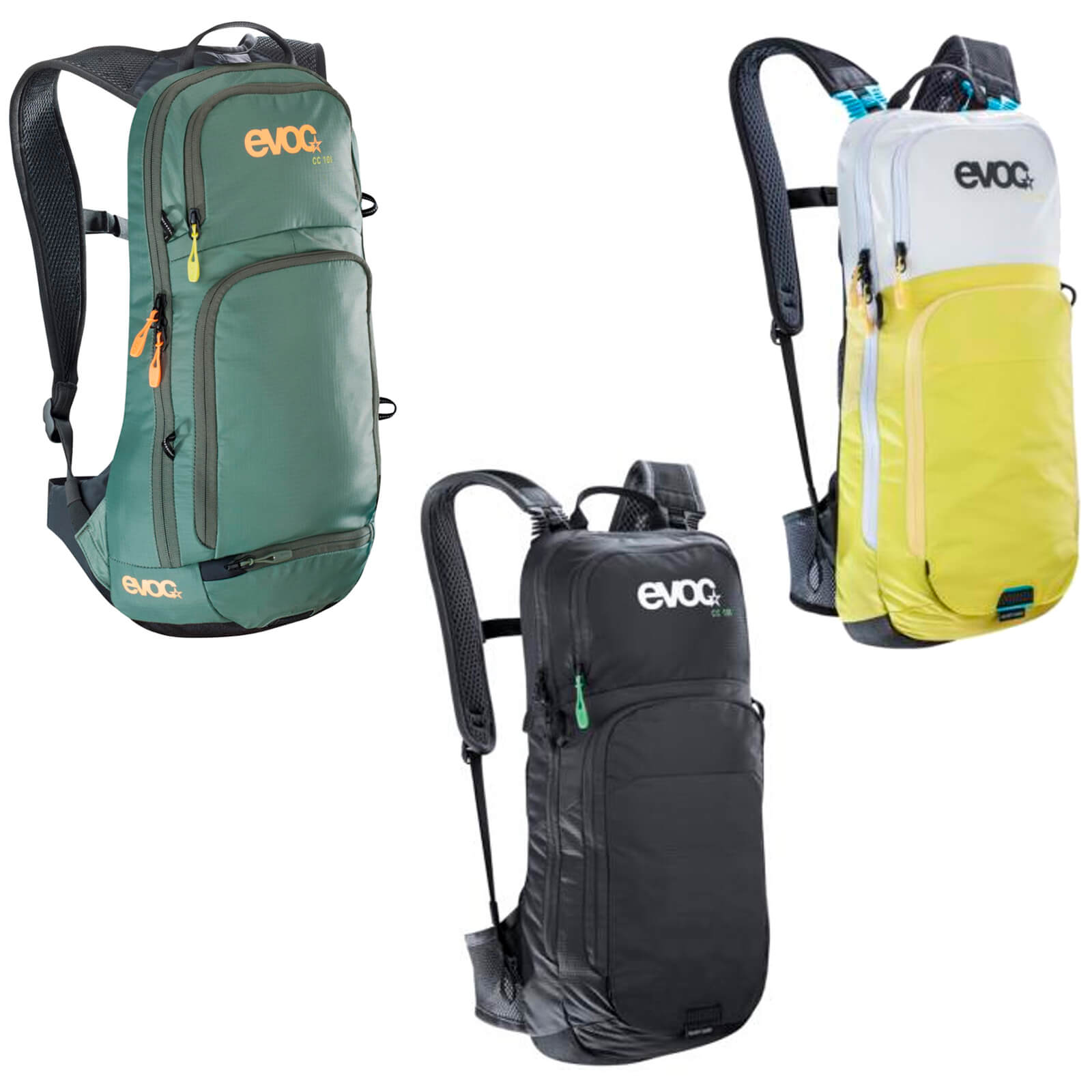Evoc CC 10L Backpack and 2L Bladder - Slate/Olive