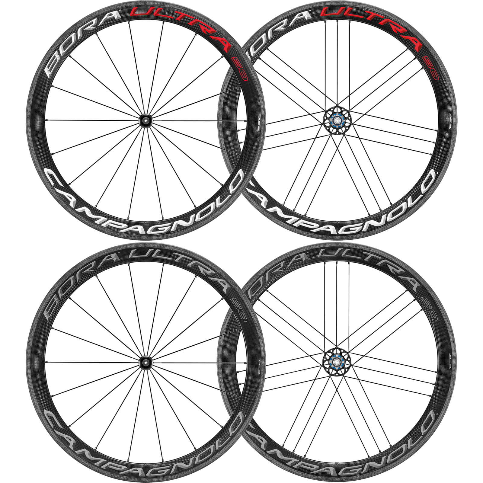Campagnolo Bora Ultra 50 Clincher Wheelset 2018 - Bright Label - Shimano/SRAM