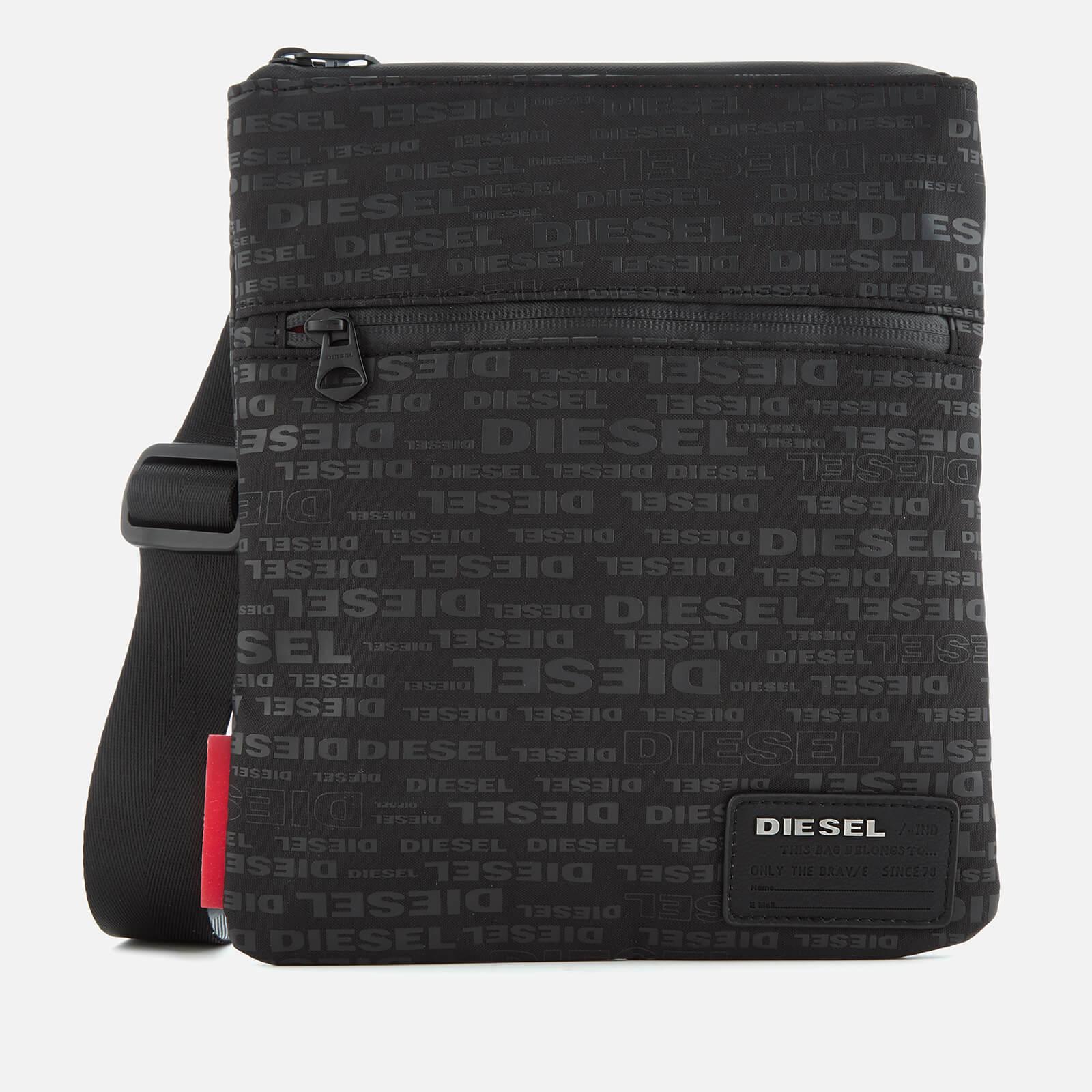 0ba4d81edb772c Diesel Men's Discover Cross Body Bag - All Over Logo Black Mens Accessories  | TheHut.com