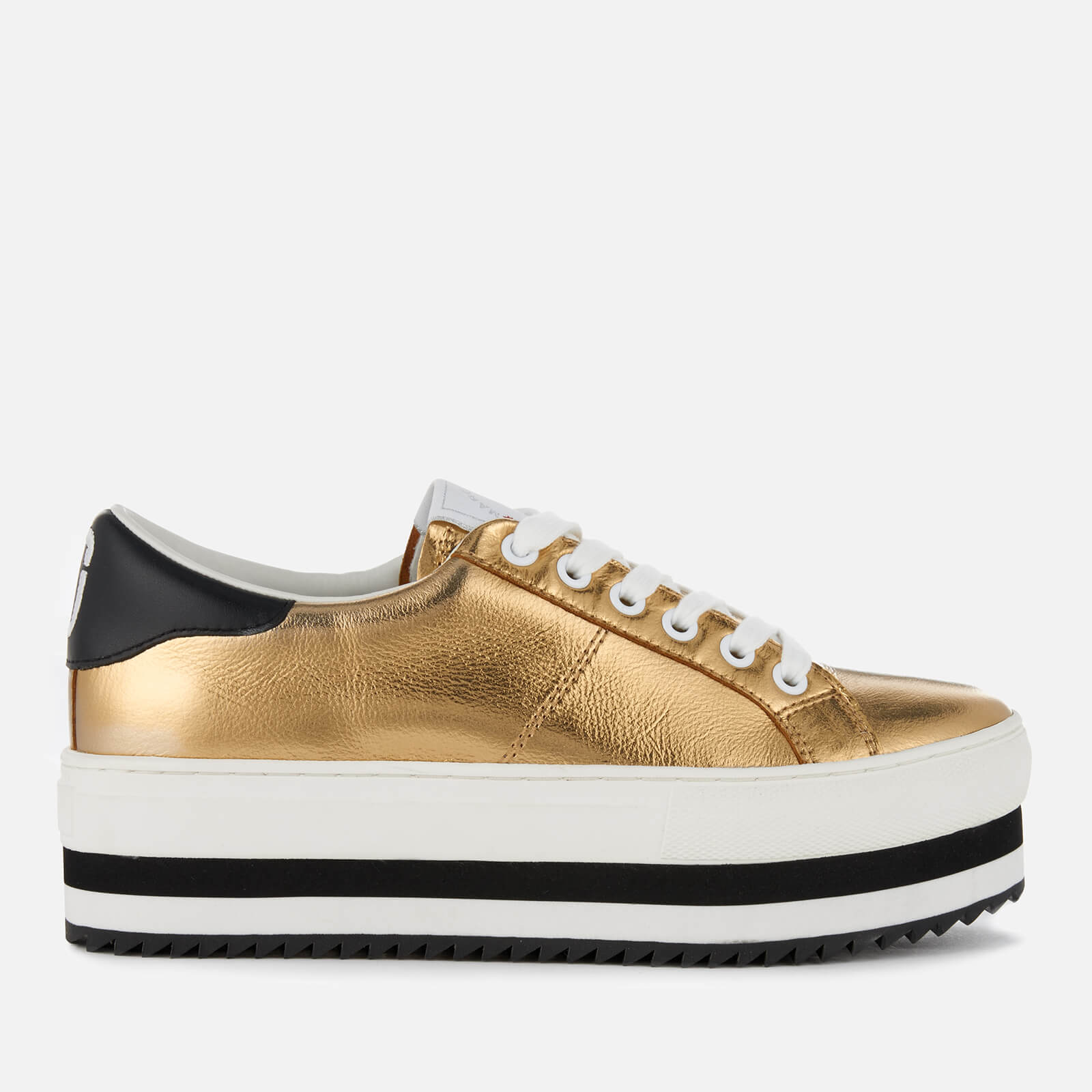 f2d64008eef9 Marc Jacobs Women s Grand Leather Platform Trainers - Gold - Free UK ...