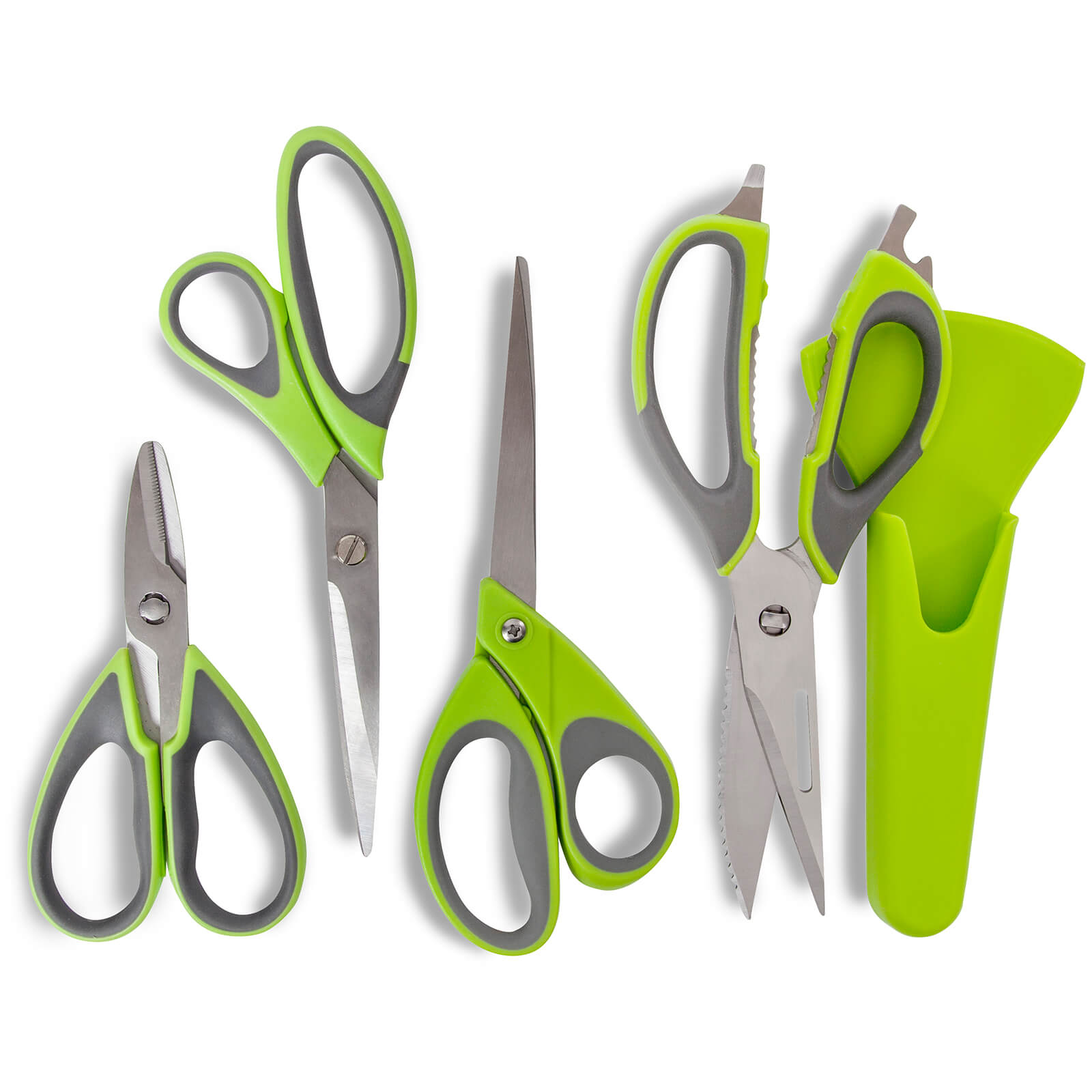 Tower T80442 Tower Health Multi Purpose Scissor Set - Green Graphite