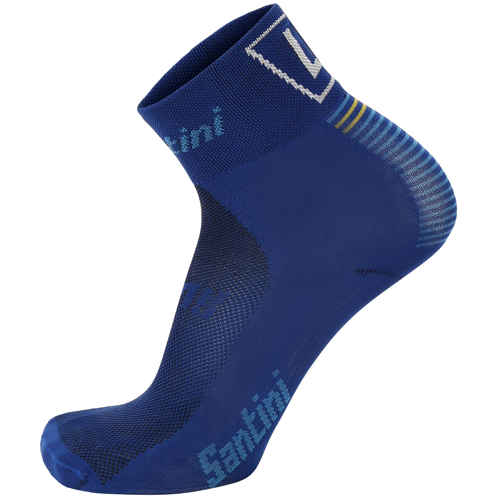 Santini La Vuelta 2017 Stage 19-20 Asturias Coolmax Socks - Blue/Yellow
