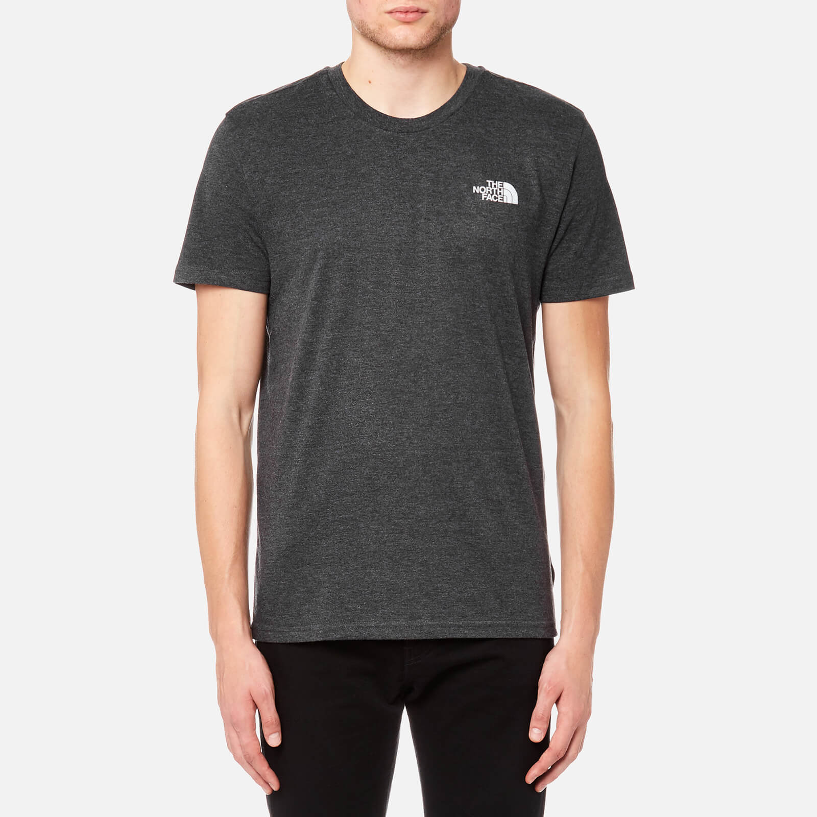 9895c8dc The North Face Men's Short Sleeve Simple Dome T-Shirt - TNF Dark Grey  Heather/Silver Reflective Clothing | TheHut.com