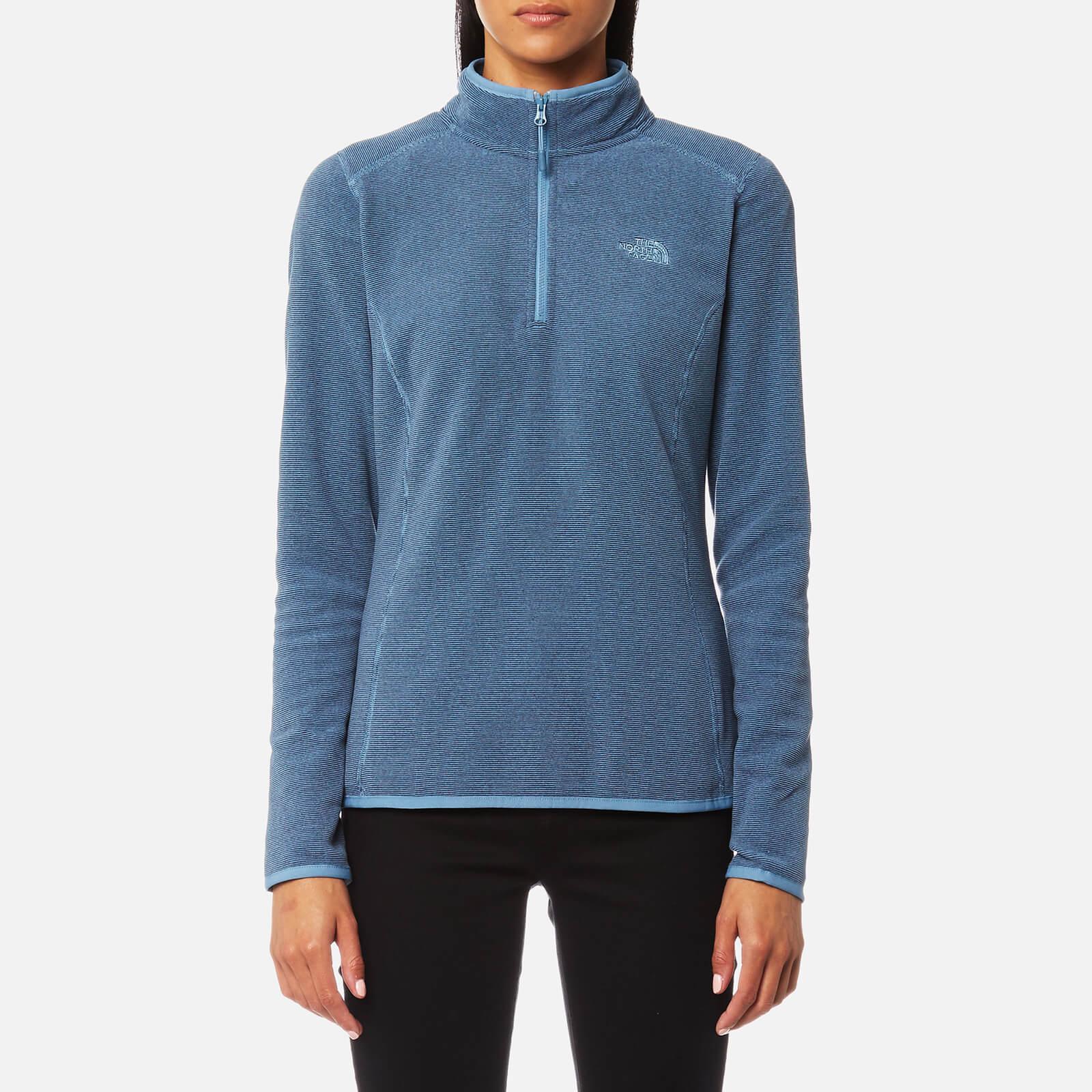 5e3967569e7 The North Face Women s 100 Glacier 1 4 Zip Fleece Jumper - Provincial Blue  Stripe Womens Clothing