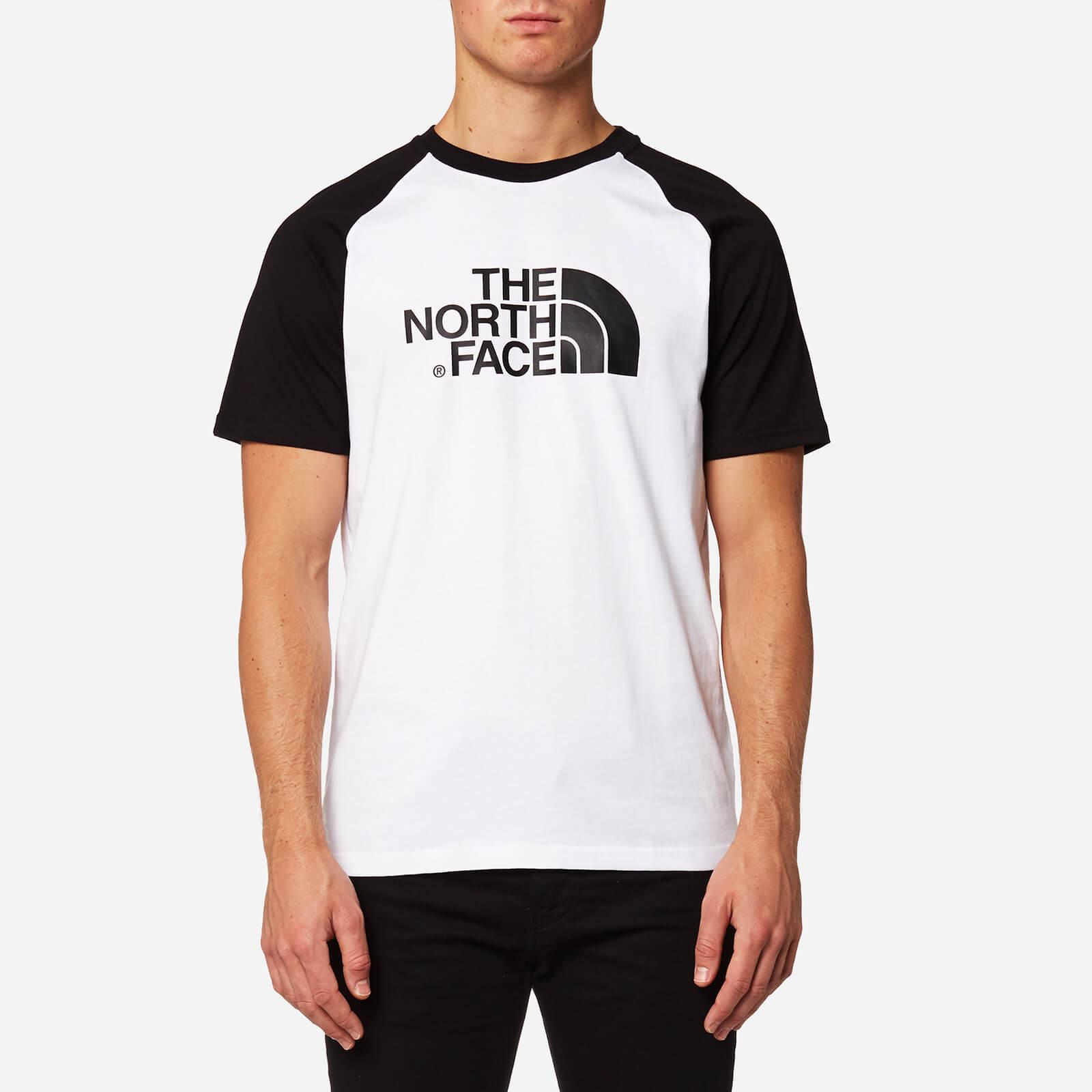 6c4d3e741 The North Face Men's Raglan Easy Short Sleeve T-Shirt - TNF White/TNF Black