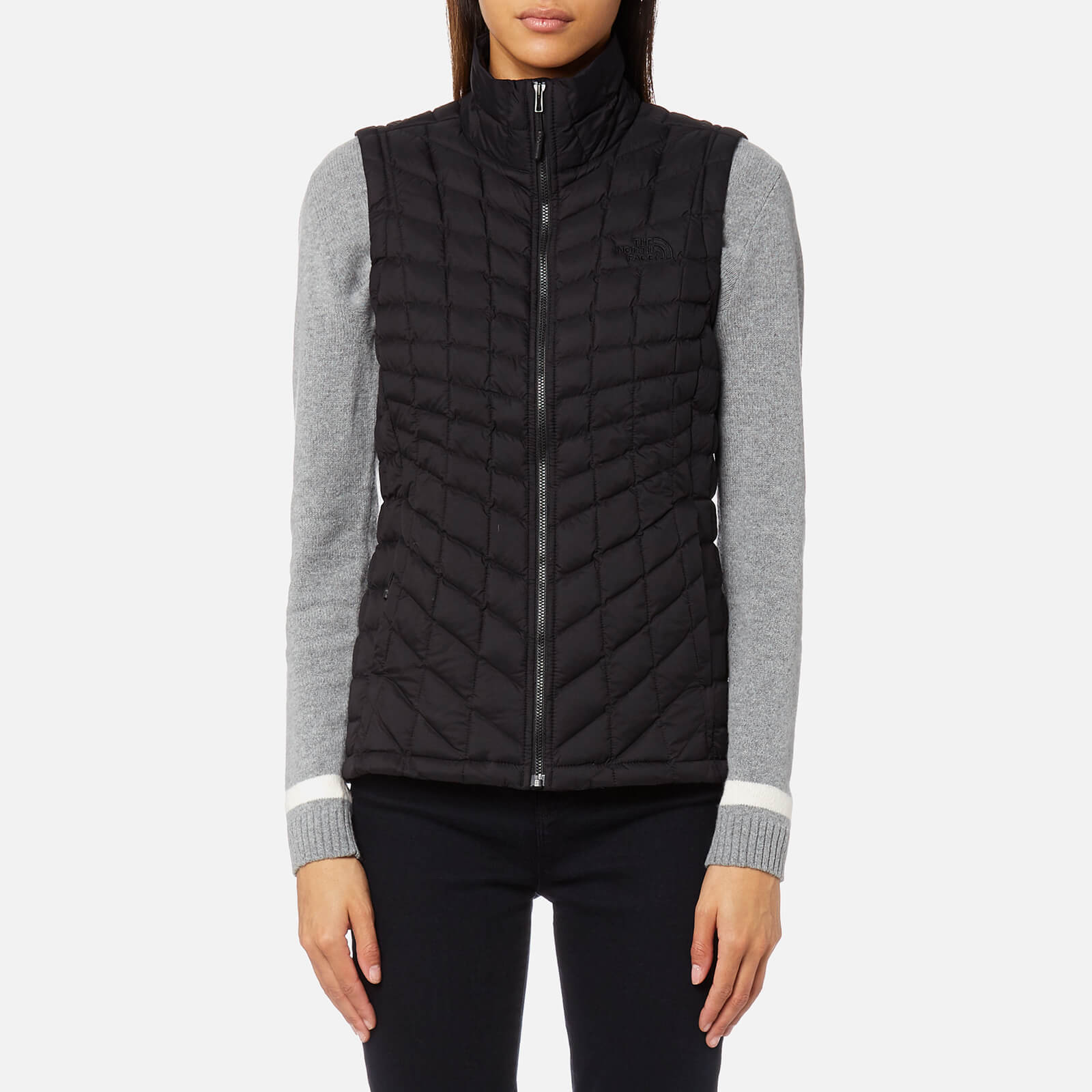 THE NORTH FACE Womens Thermo Ball Gilet Vest Ladies Top Sleeveless Jacket Black