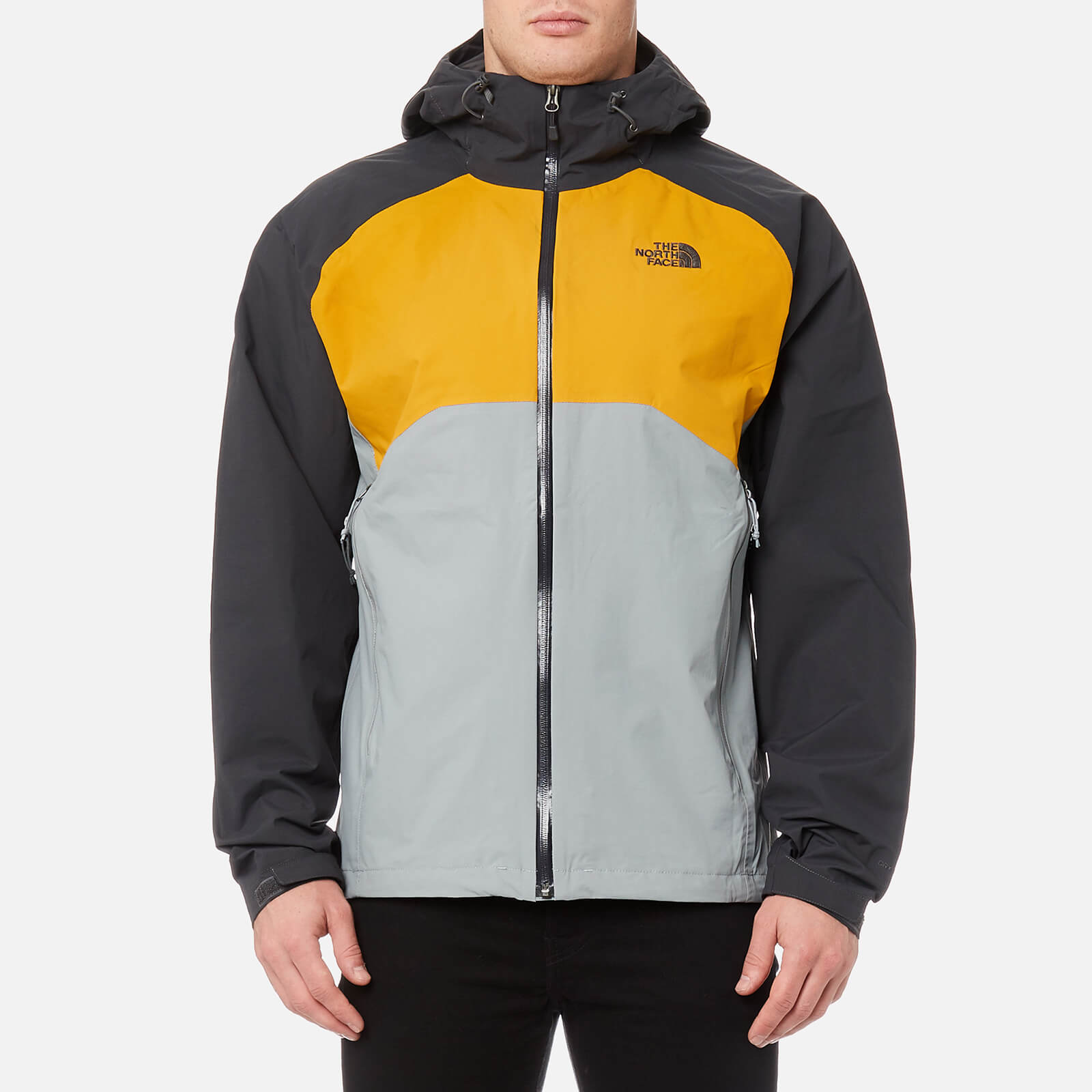f351c46d6475 The North Face Men s Stratos Jacket - Asphalt Grey Arrowwood  Yellow Monument Grey Clothing