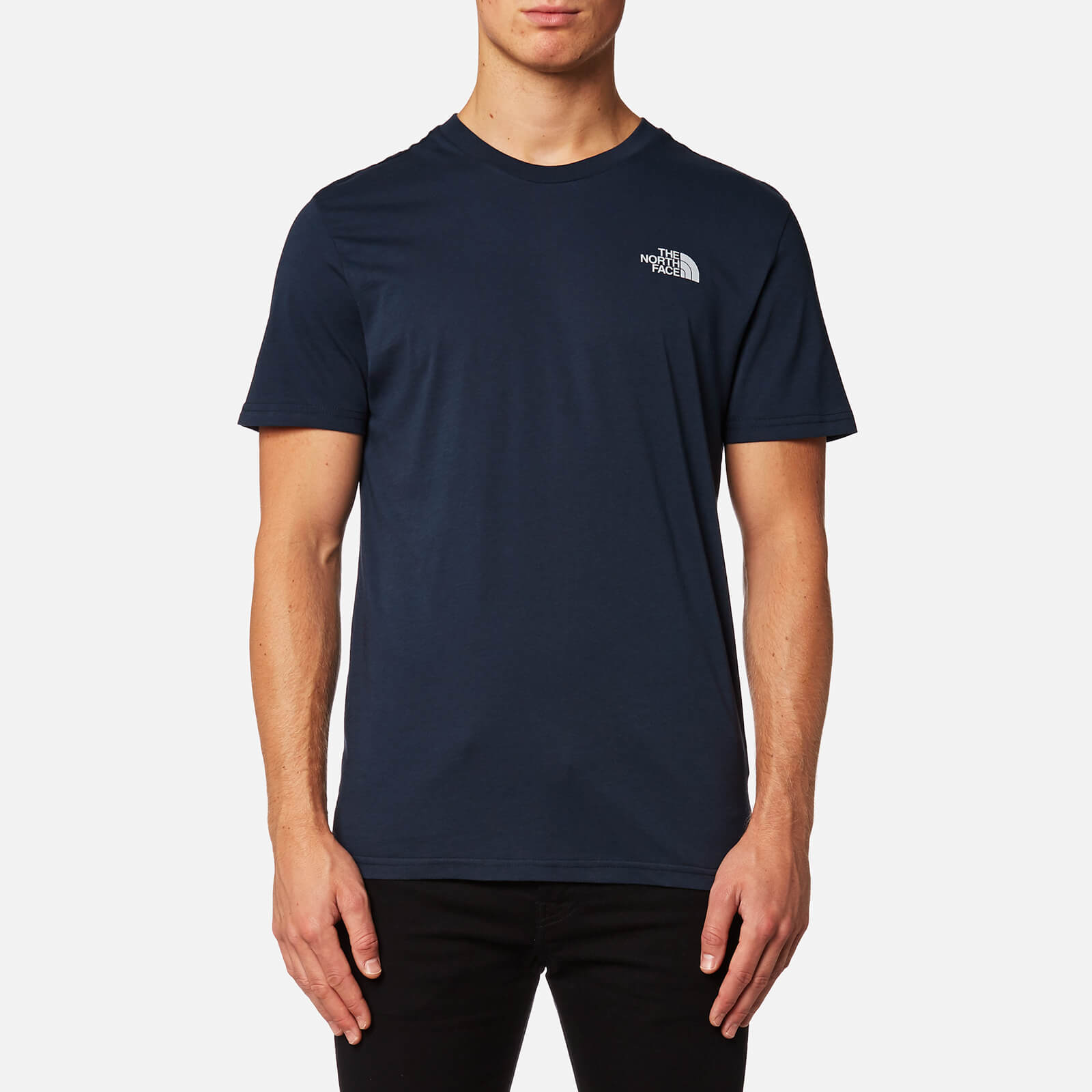 262cb1282 The North Face Men's Short Sleeve Simple Dome T-Shirt - Urban Navy/High  Rise Grey