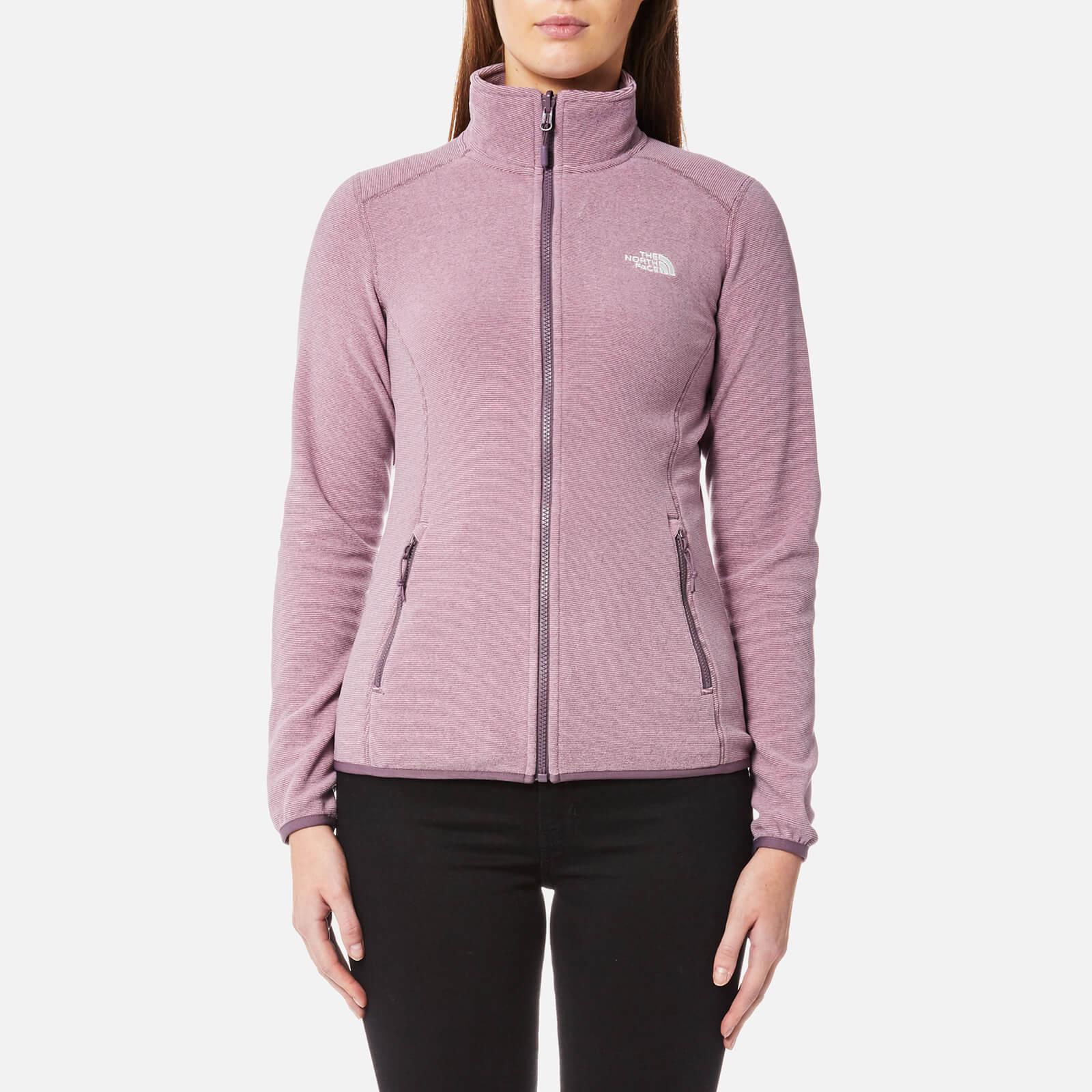 d581d7927e9a The North Face Women s 100 Glacier Full Zip Fleece Jumper - Black Plum  Stripe Womens Clothing