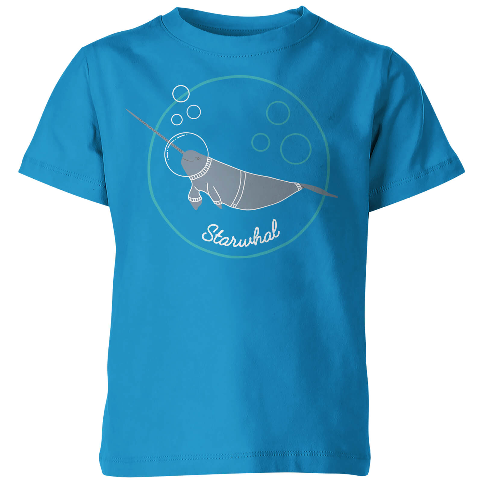 My Little Rascal Kids Starwhal Blue T-Shirt