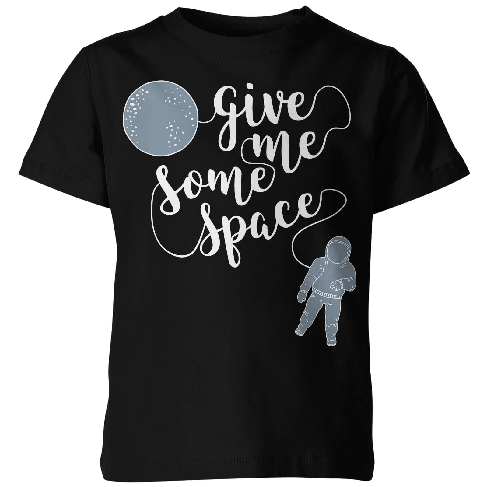 My Little Rascal Kids Give Me Some Space Black T-Shirt