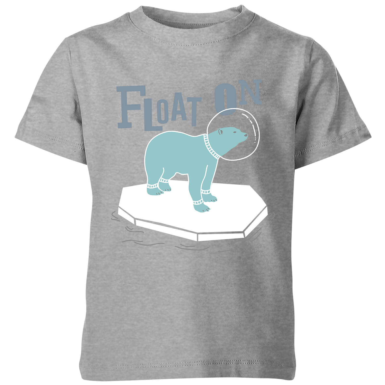 My Little Rascal Kids Float On Grey T-Shirt
