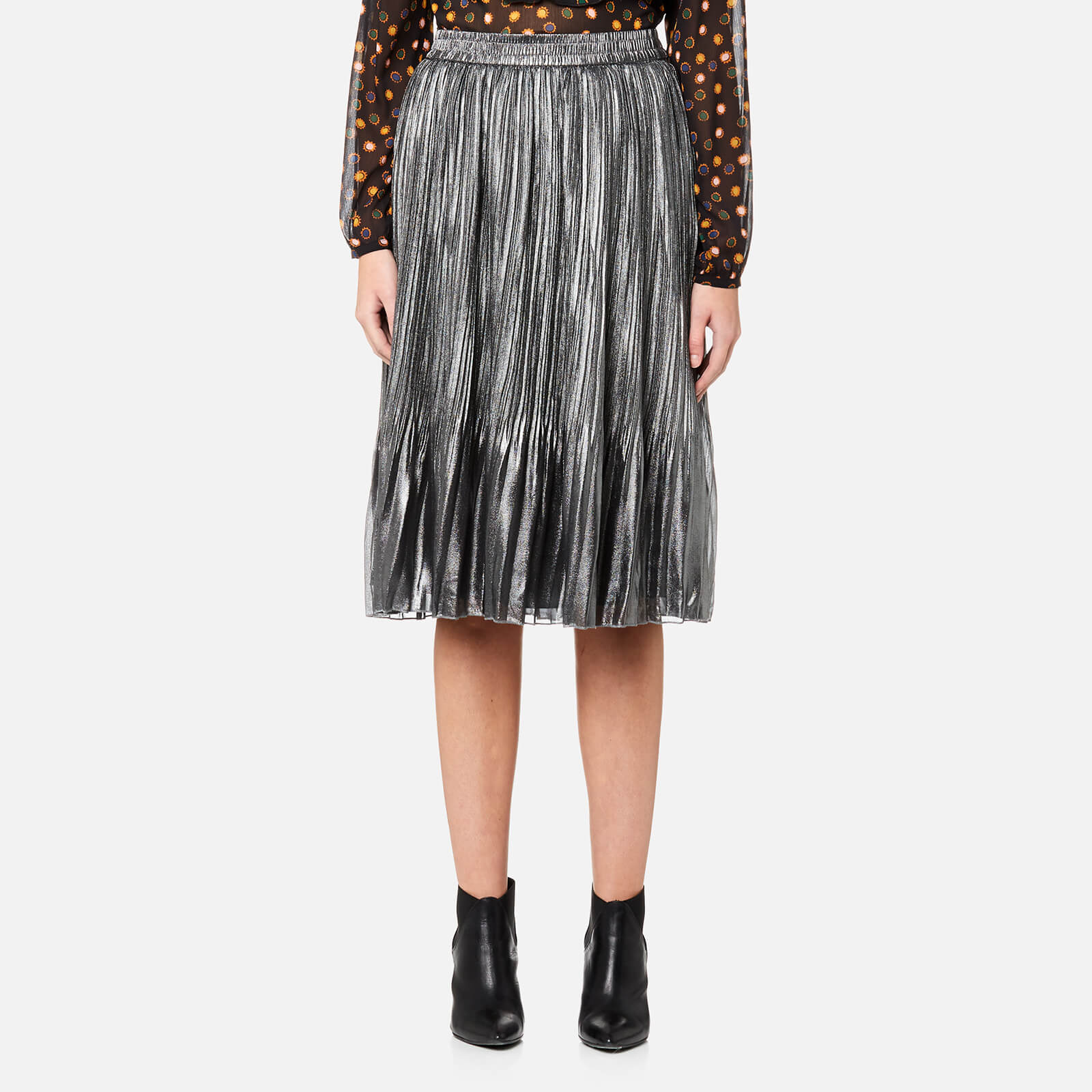 c73bd5372e Maison Scotch Women's Pleated Skirt - Silver - Free UK Delivery over £50