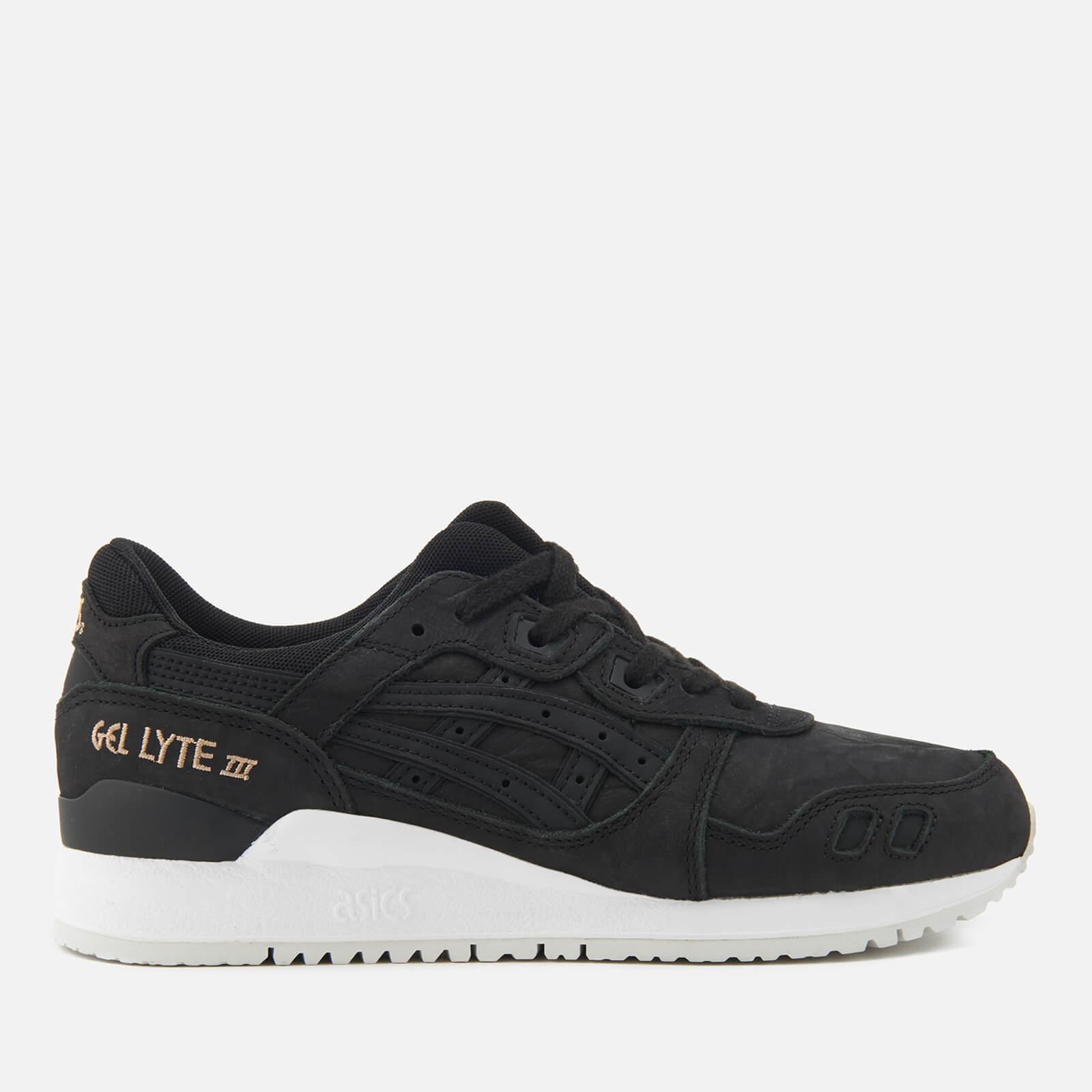 kody promocyjne sklep dyskontowy oficjalny dostawca Asics Lifestyle Women's Gel-Lyte III Leather Trainers - Black/Black