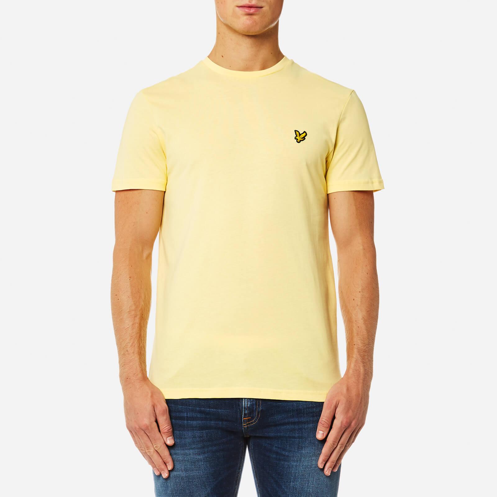 2f030a3ff8049 Lyle & Scott Men's Crew Neck T-Shirt - Pale Yellow Clothing | TheHut.com