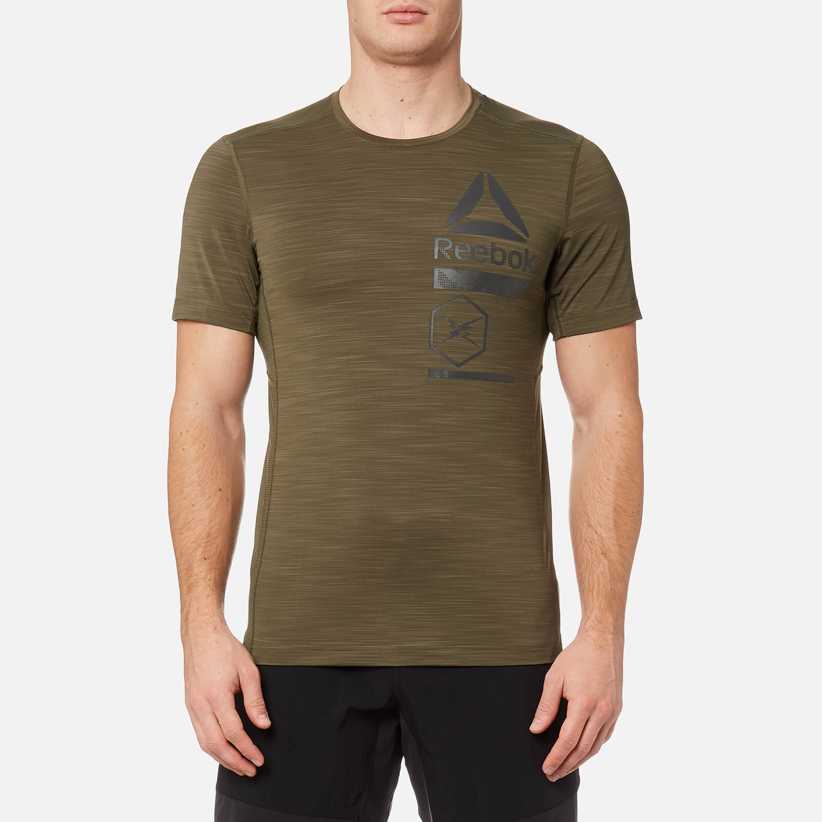 7d5cd29a Reebok Men's Activchill Zoned Graphic Short Sleeve T-Shirt - Army Green  Clothing | TheHut.com