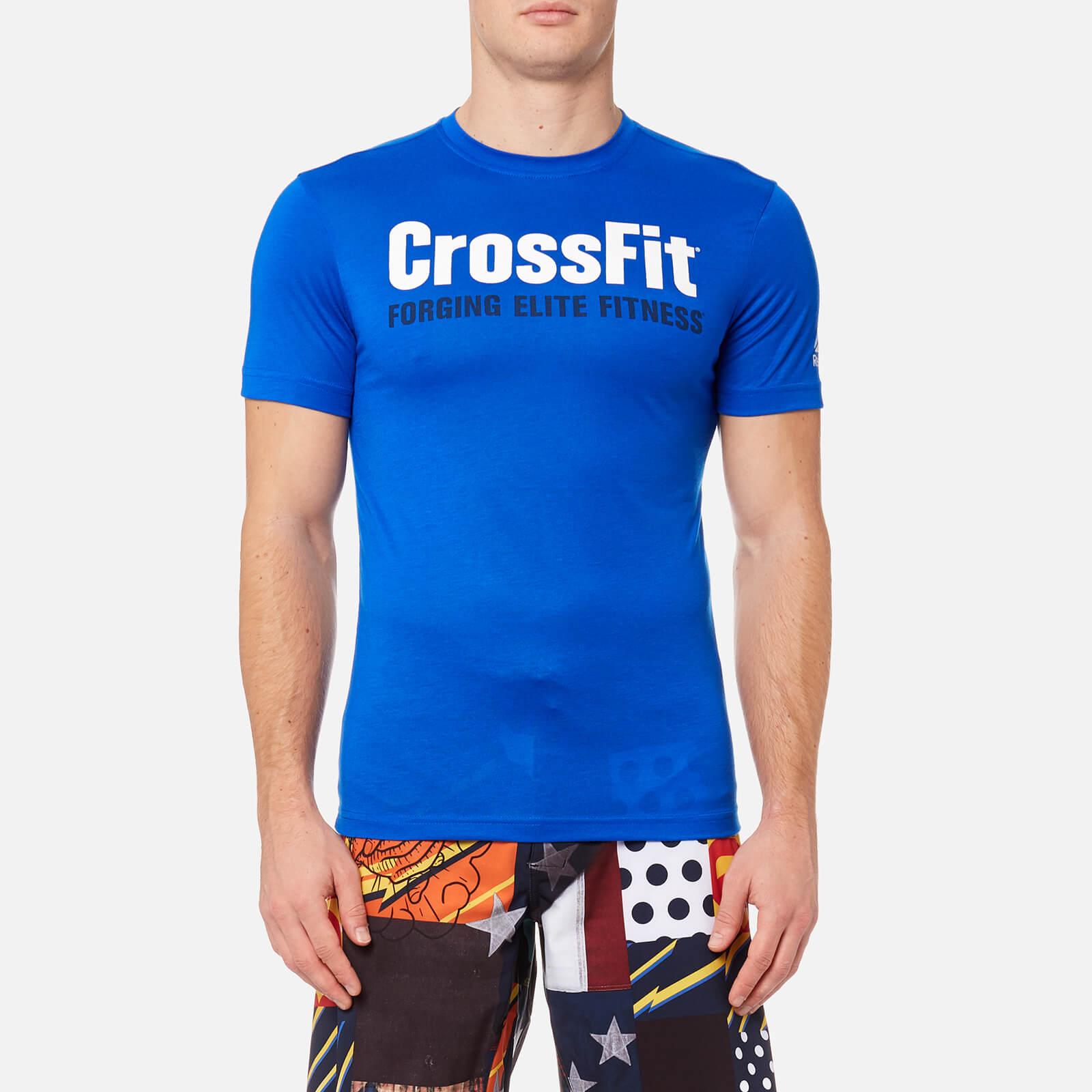 599fb05747b Reebok Men's CrossFit Logo Short Sleeve T-Shirt - Vital Blue