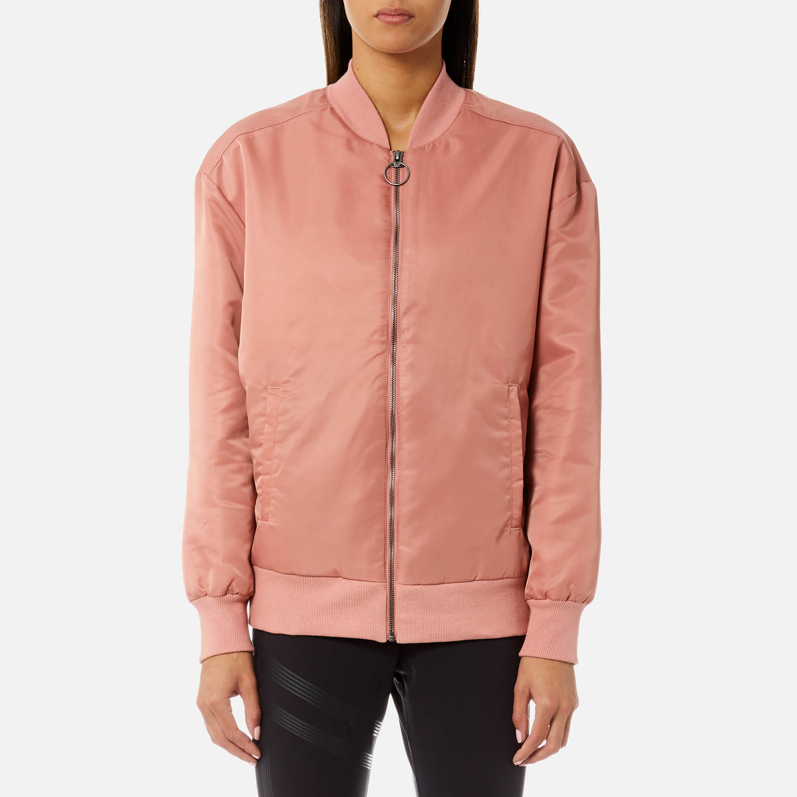 936f221b7 Reebok Women's Linear Bomber Jacket - Sandy Rose
