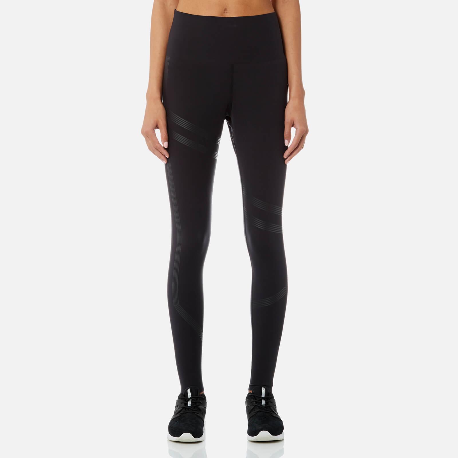 55a77a2ae6f5fc Reebok Women's Linear High Rise Tights - Black Womens Clothing   TheHut.com