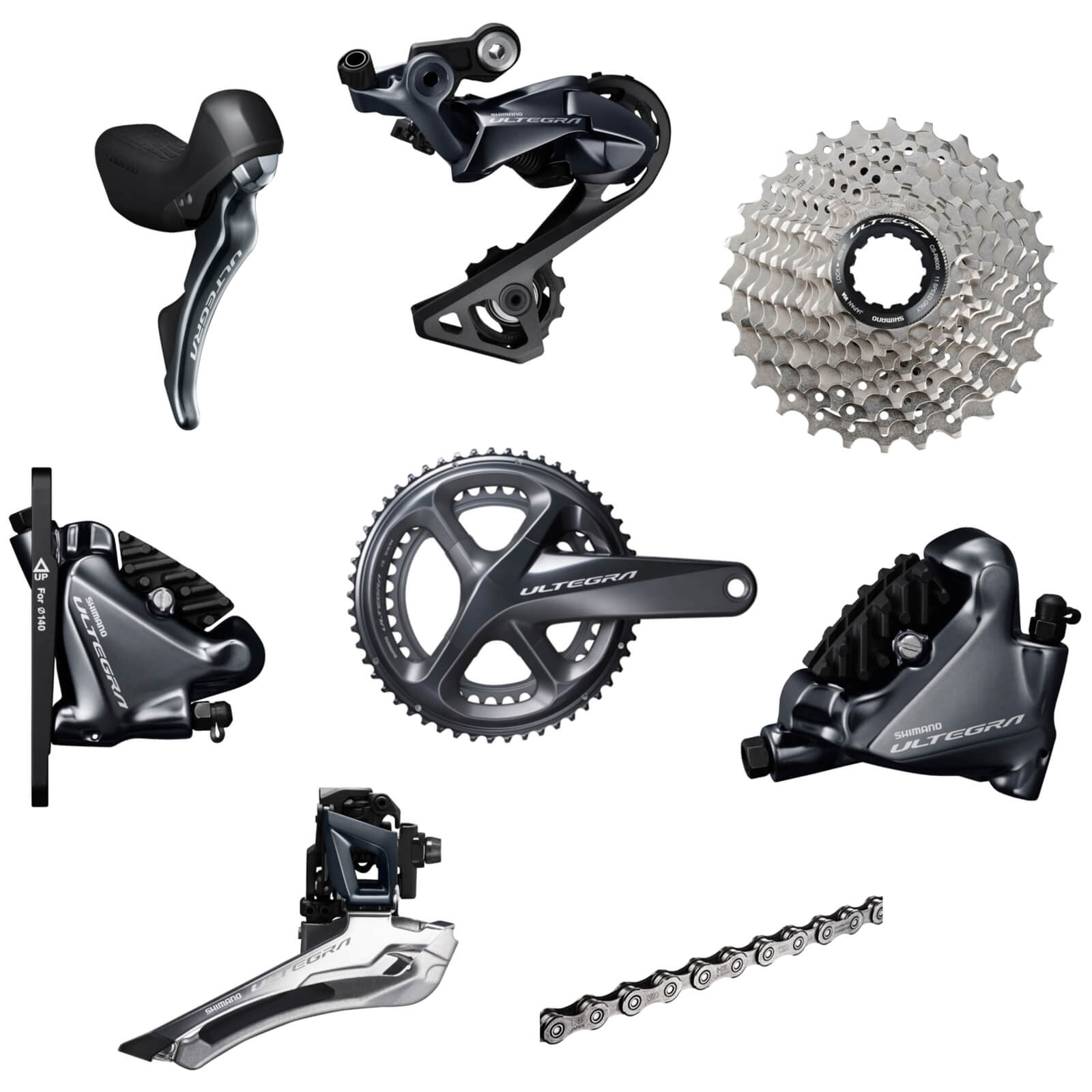 Shimano Ultegra R8020 11 Speed Groupset - Hydraulic Disc Brake