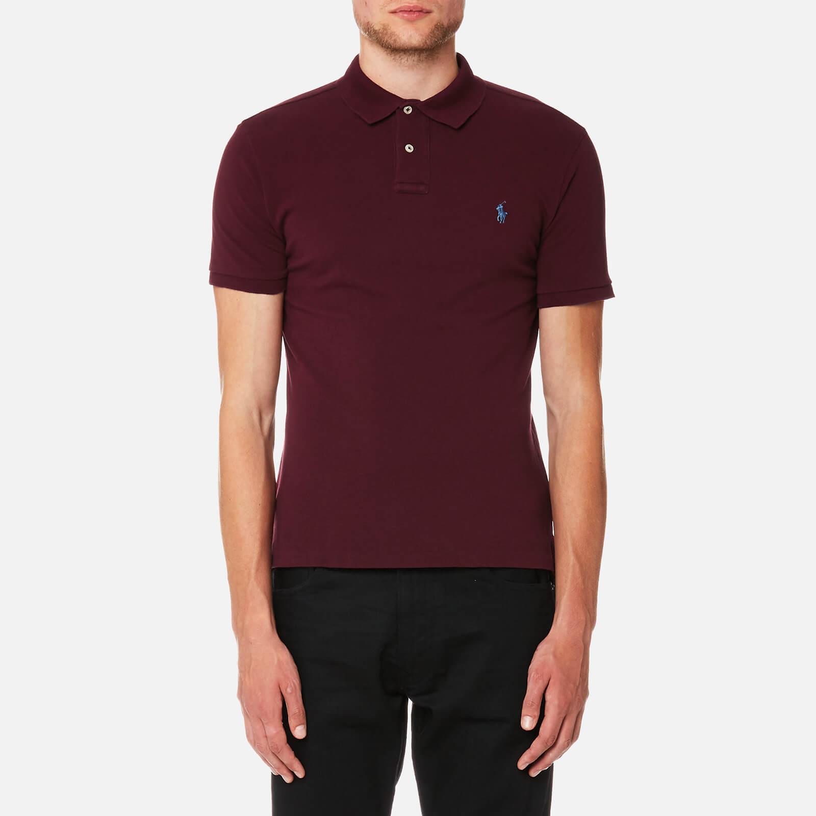 Fall Burgundy Slim Fit S-XXL Ralph Lauren Men/'s Short Sleeved /'POLO/' Shirt