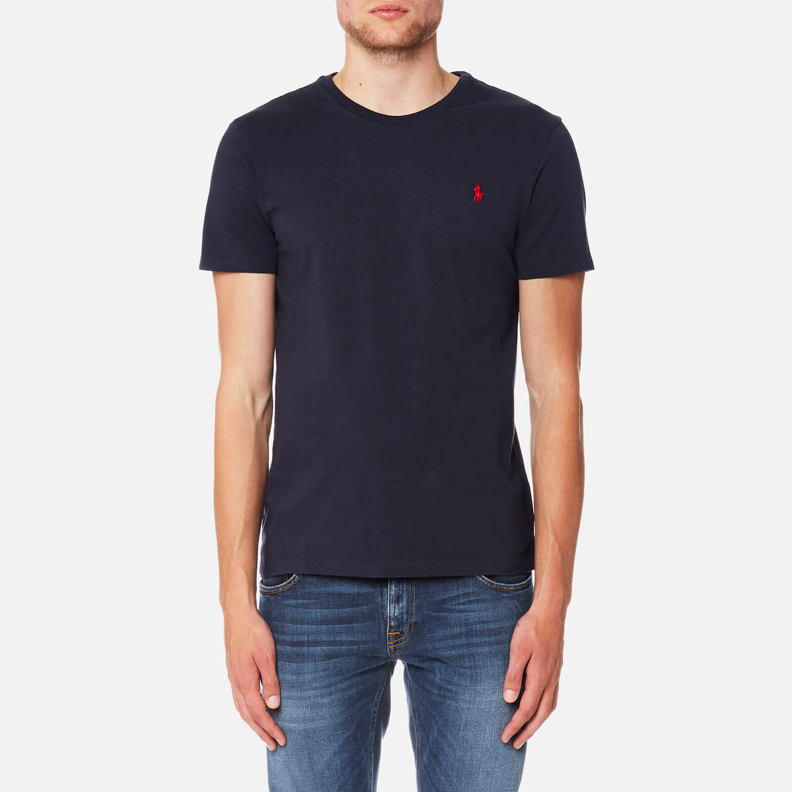 b397a27e Polo Ralph Lauren Men's Custom Fit Crew Neck T-Shirt - Ink - Free UK  Delivery over £50