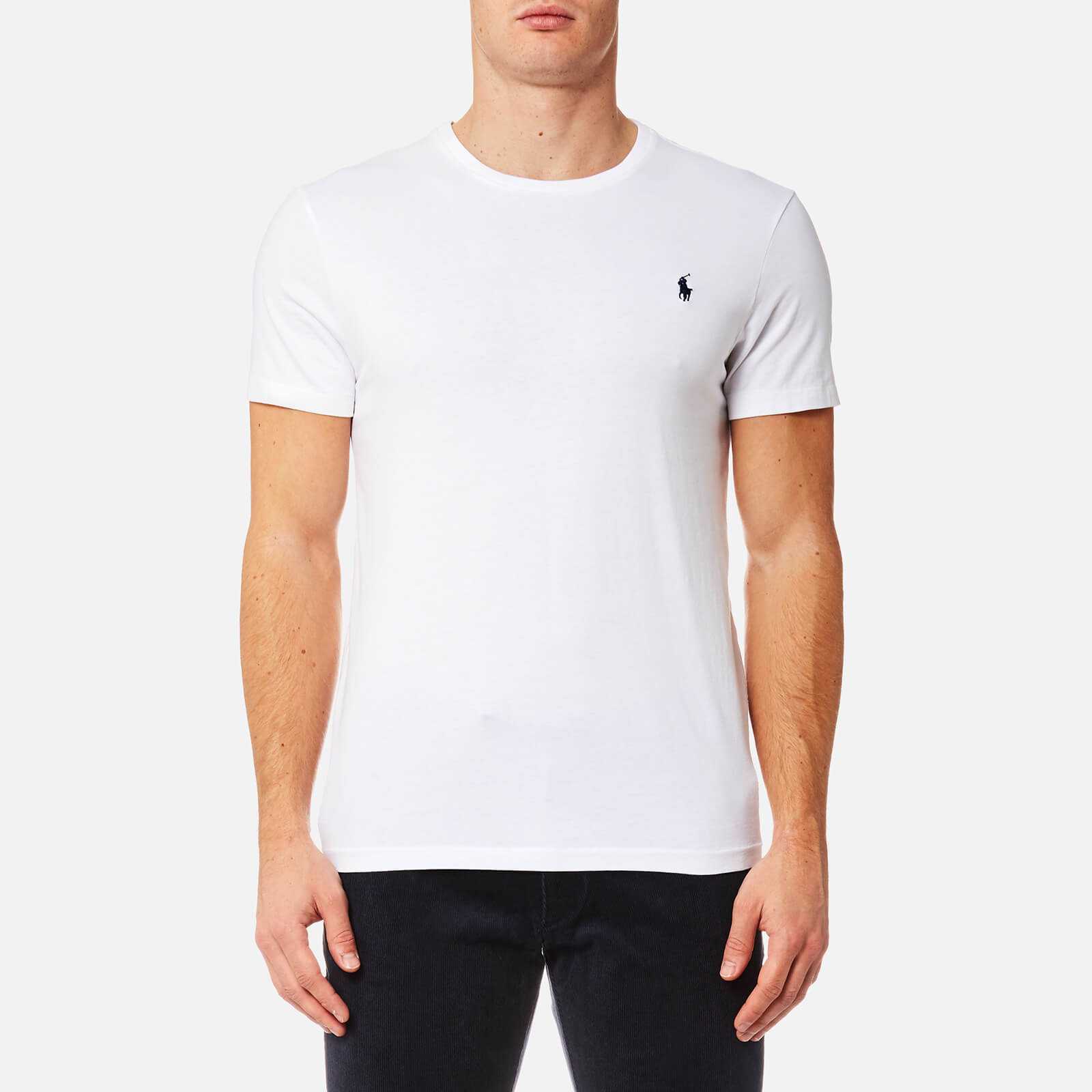 eb3924916 Polo Ralph Lauren Men's Custom Fit Crew Neck T-Shirt - White - Free UK  Delivery over £50