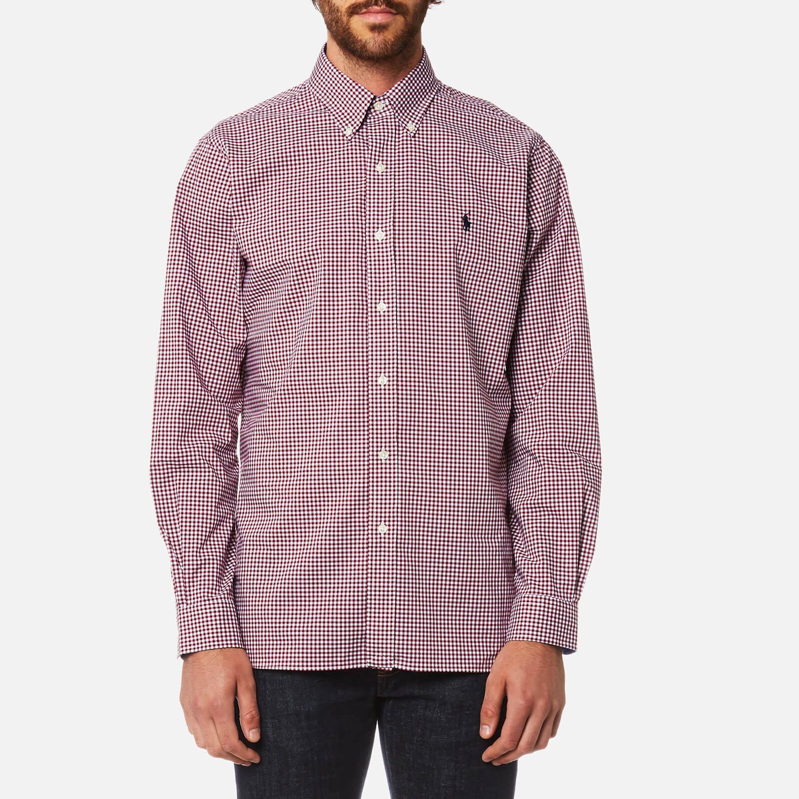 581289de7 Polo Ralph Lauren Men s Slim Fit Poplin Shirt - Red Check - Free UK  Delivery over £50