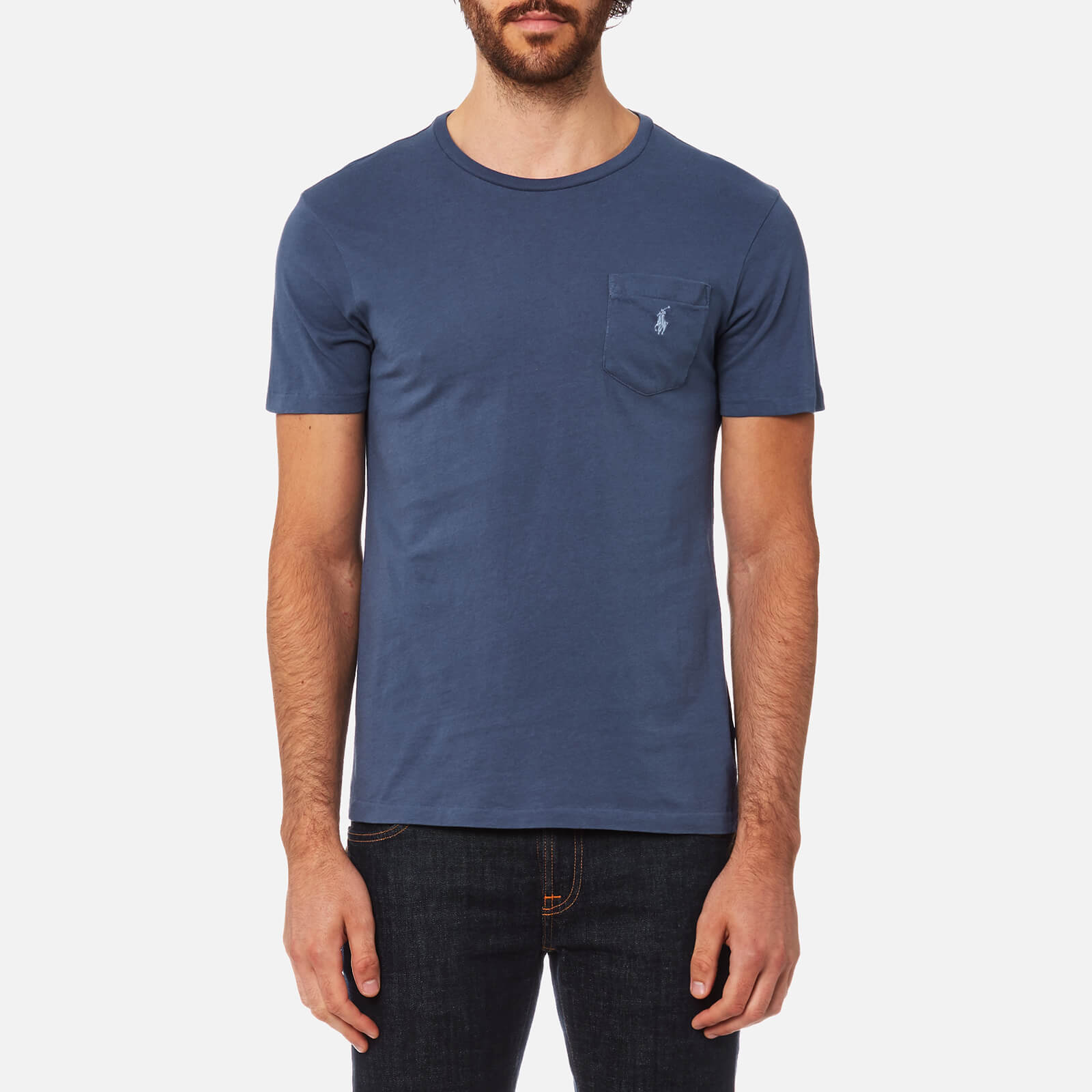 b82b6aa13daa80 Polo Ralph Lauren Men's Pocket T-Shirt - Light Navy - Free UK Delivery over  £50