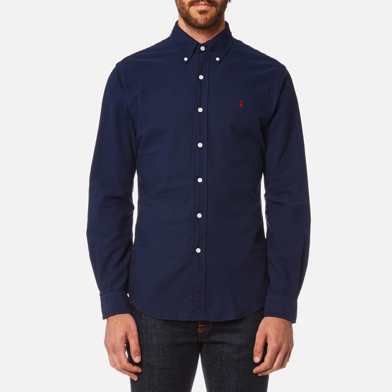 921fef6b7 Polo Ralph Lauren Men s Garment Dye Oxford Shirt - Windsor Navy - Free UK  Delivery over £50