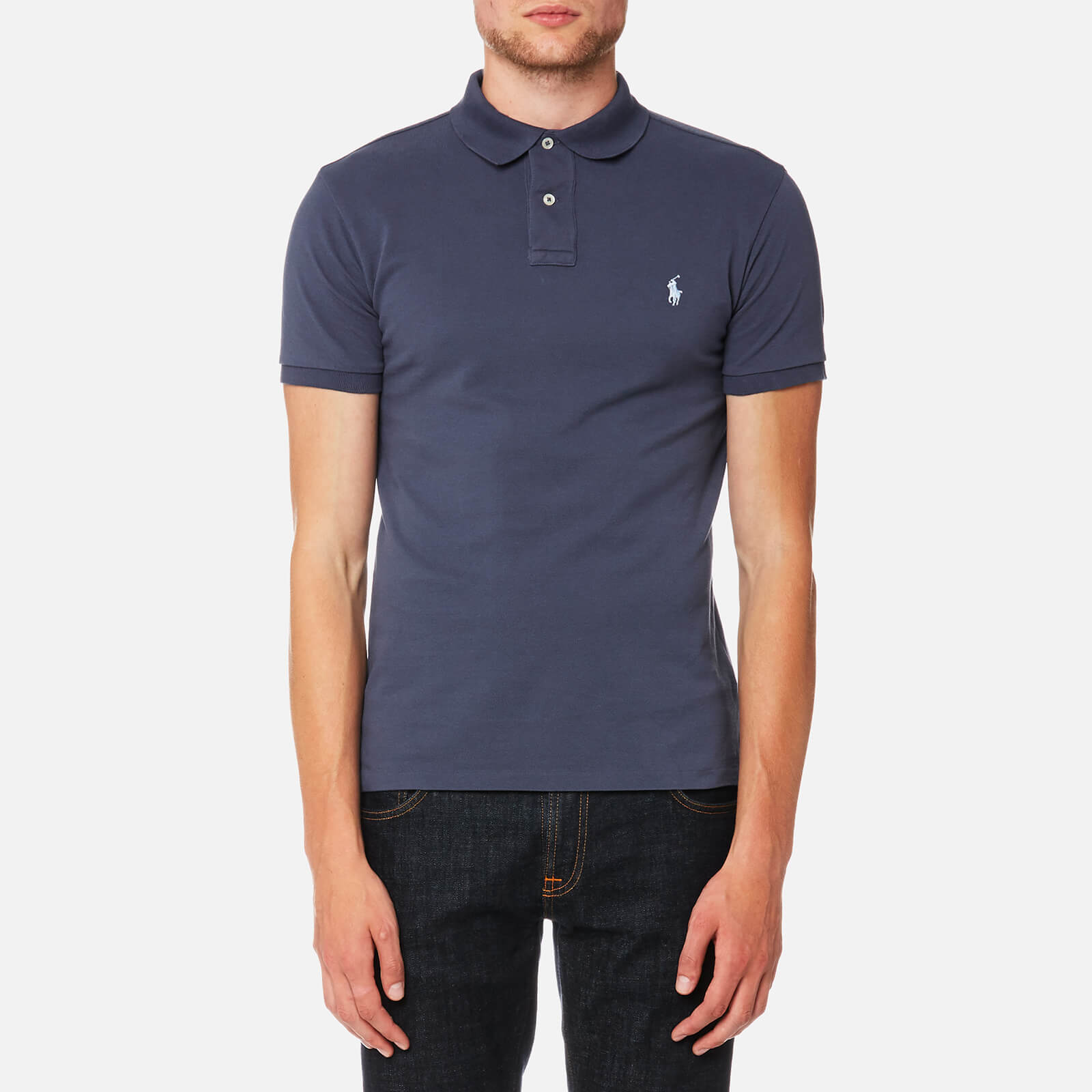 622c79ff4 Polo Ralph Lauren Men s Slim Fit Mesh Polo Shirt - Boston Navy - Free UK  Delivery over £50