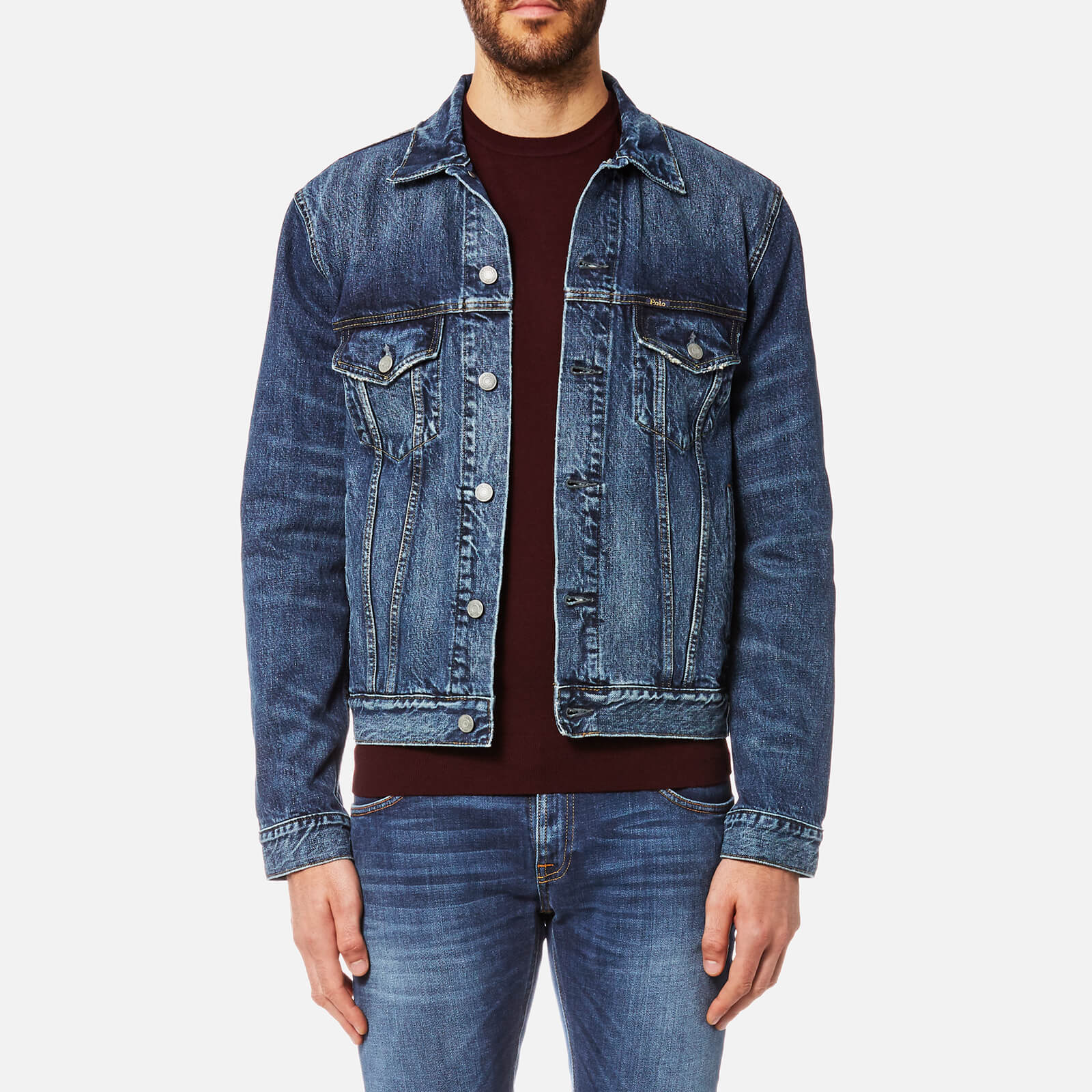 Trucker Jacket Lauren Polo Trenton Denim Men's Ralph Icon TPiOXZku
