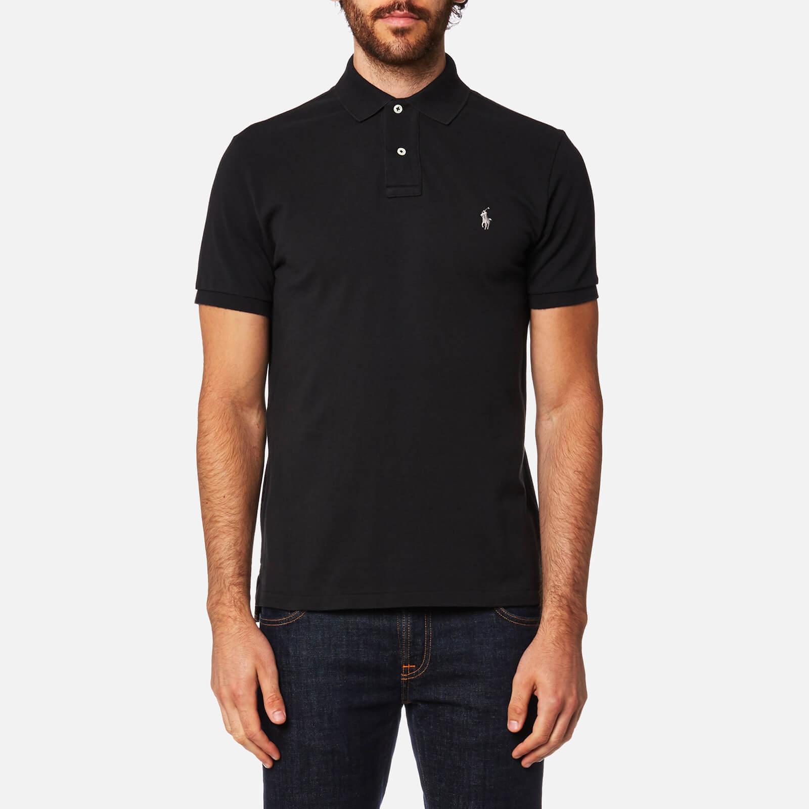 93e94ce9 Polo Ralph Lauren Men's Slim Fit Polo Shirt - Black