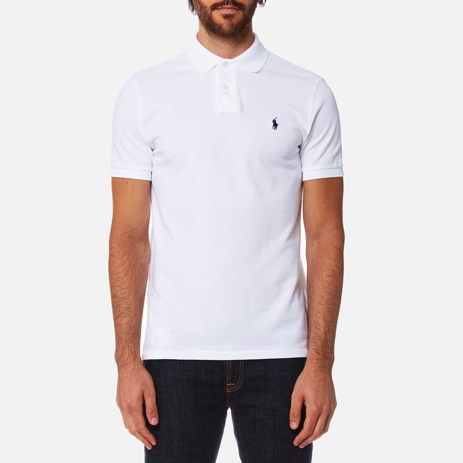 9d7e469e Polo Ralph Lauren Men's Custom Fit Polo Shirt - White - Free UK Delivery  over £50