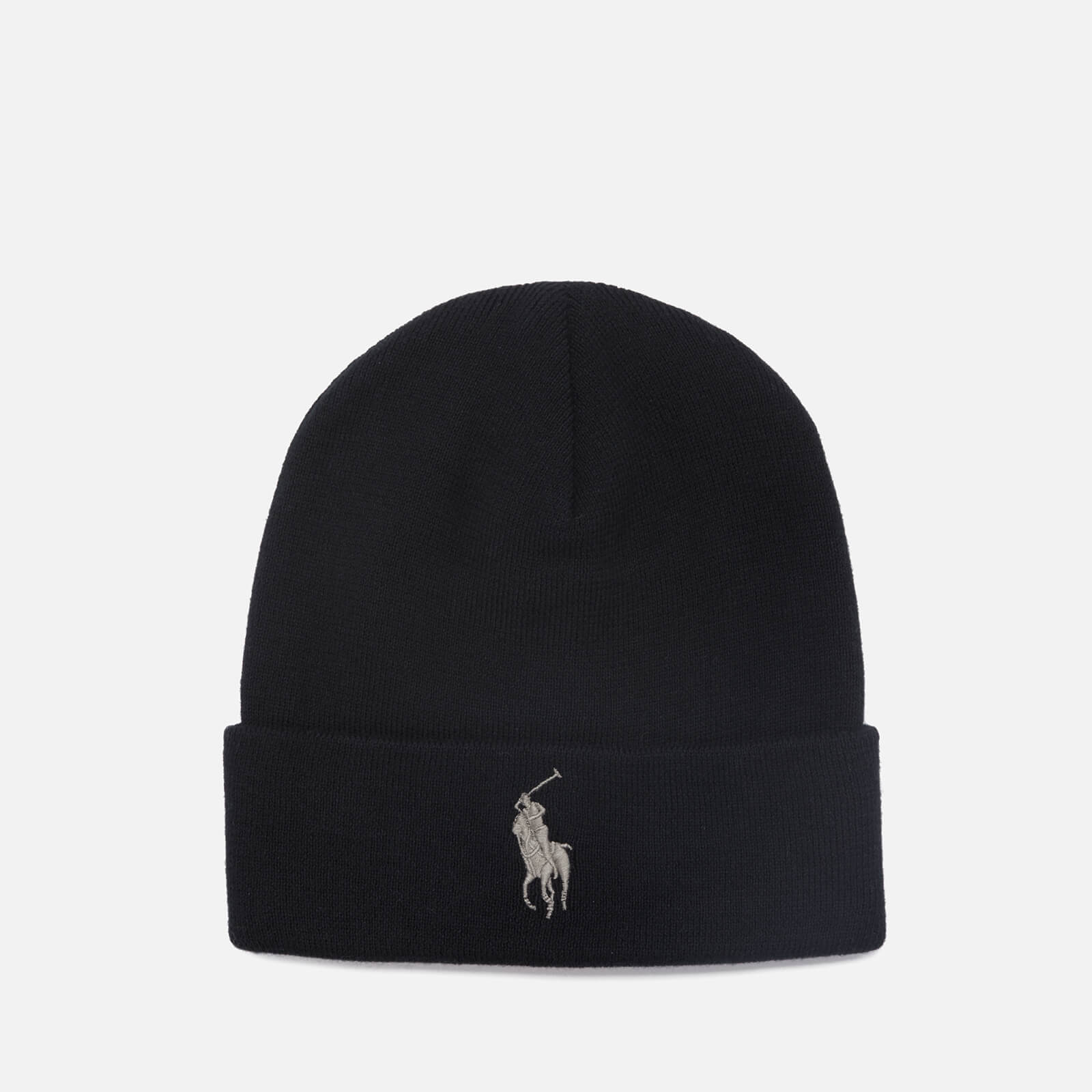 10f826c47d7 Polo Ralph Lauren Men s Cotton Beanie Hat - Black - Free UK Delivery over  £50