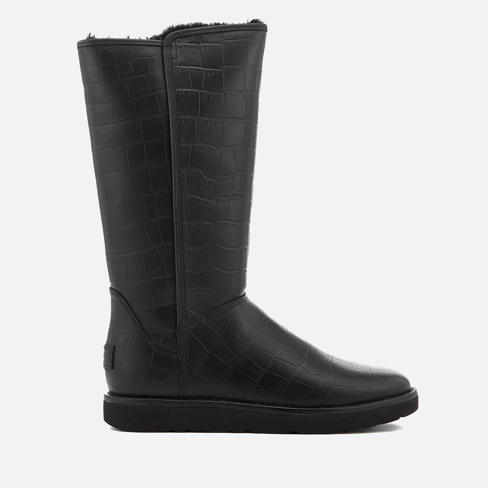 3544c0752be UGG Women's Abree II Classic Luxe Croc Leather Tall Boots - Black